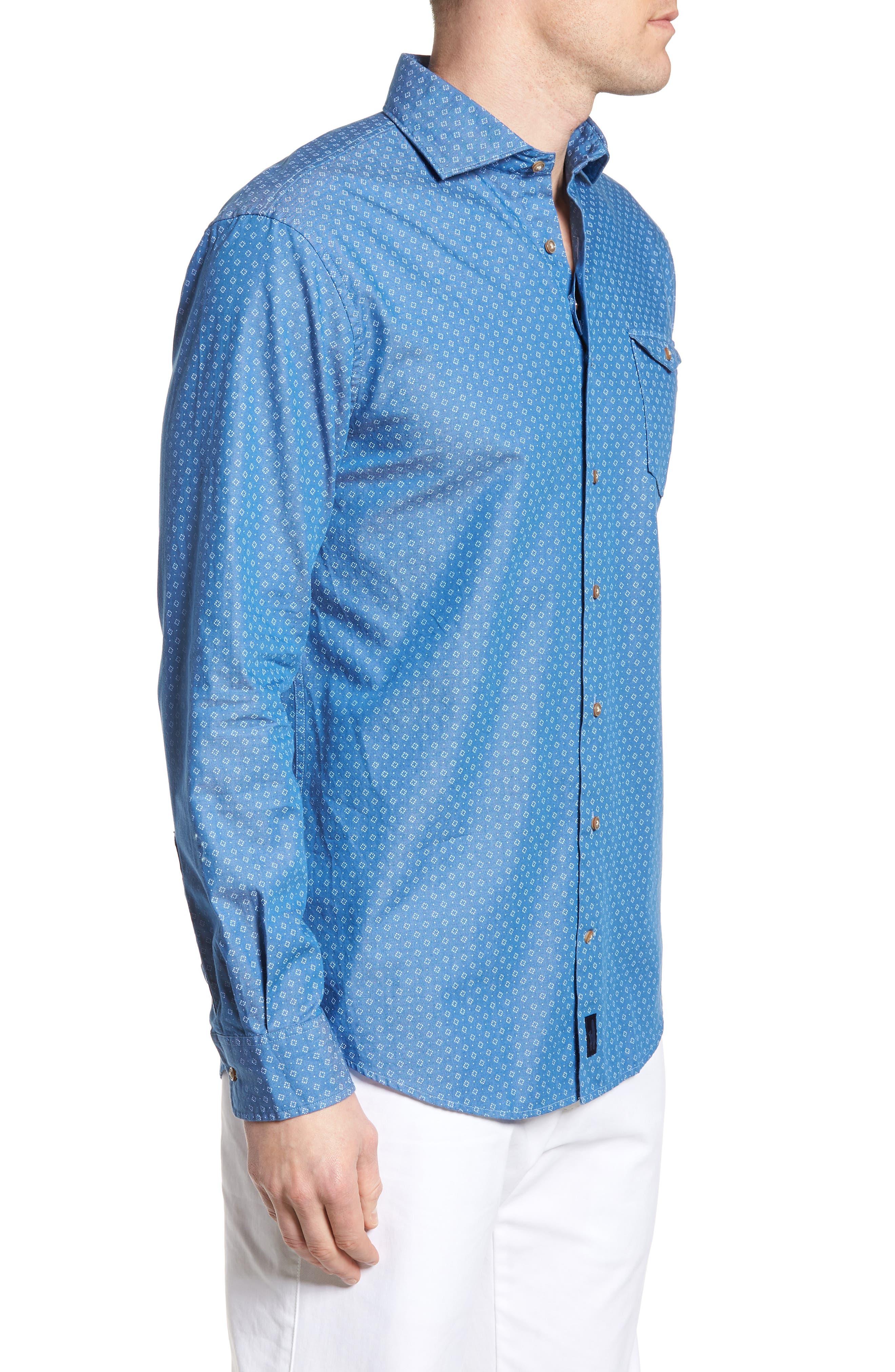 Barclay Regular Fit Sport Shirt,                             Alternate thumbnail 3, color,                             250