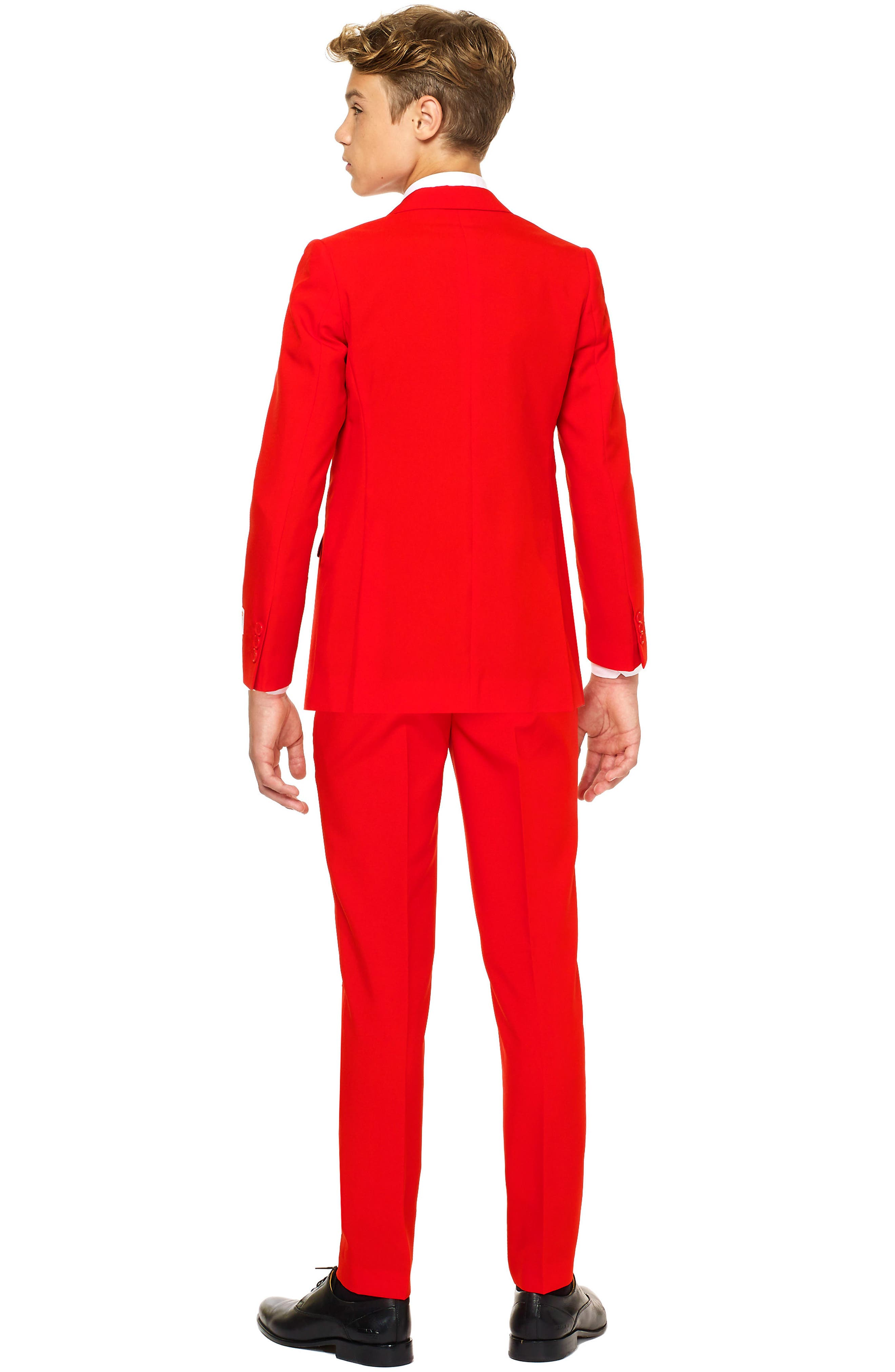Red Devil Two-Piece Suit with Tie,                             Alternate thumbnail 2, color,                             RED