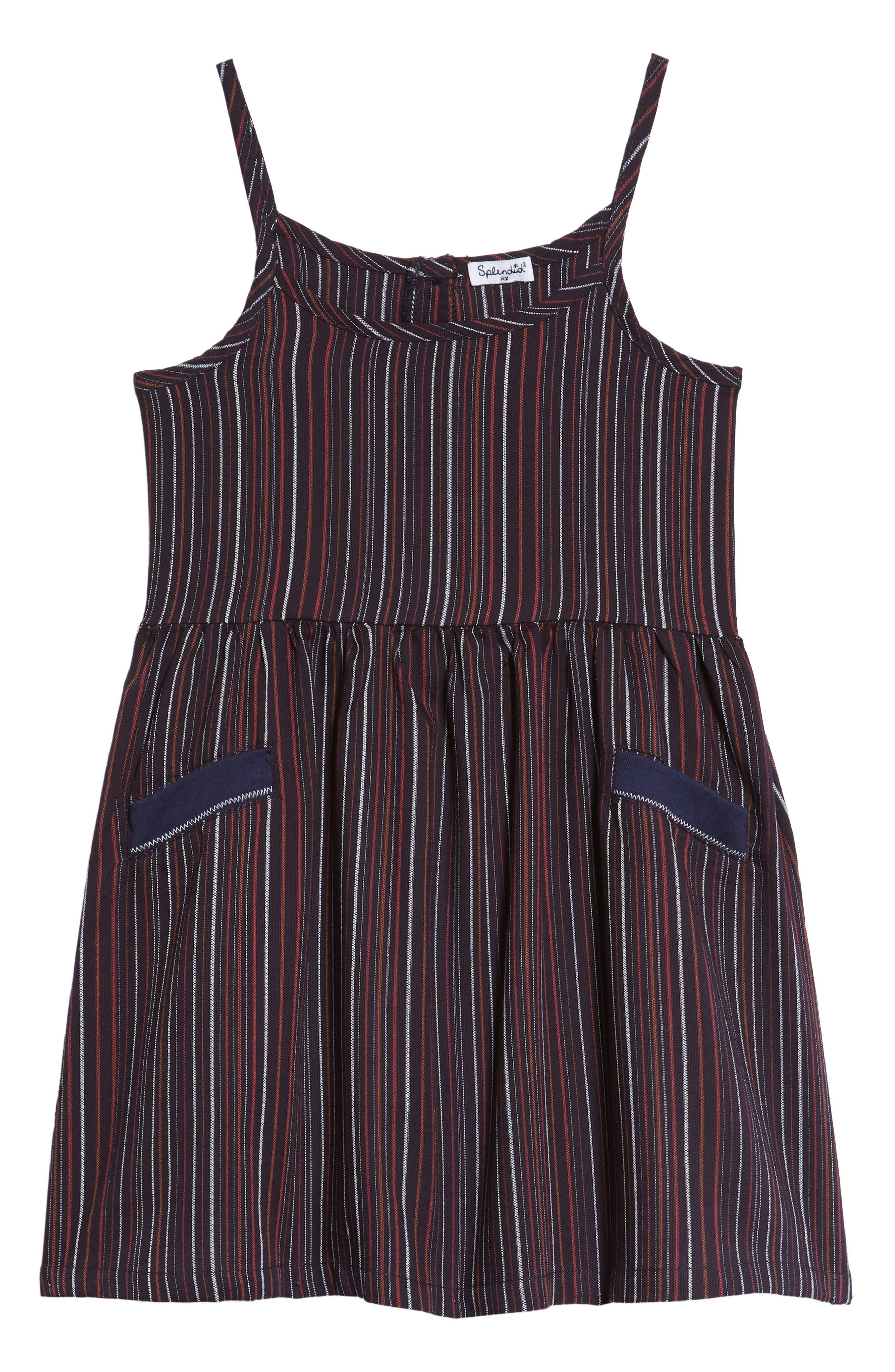 Stripe Tank Dress,                         Main,                         color, 410