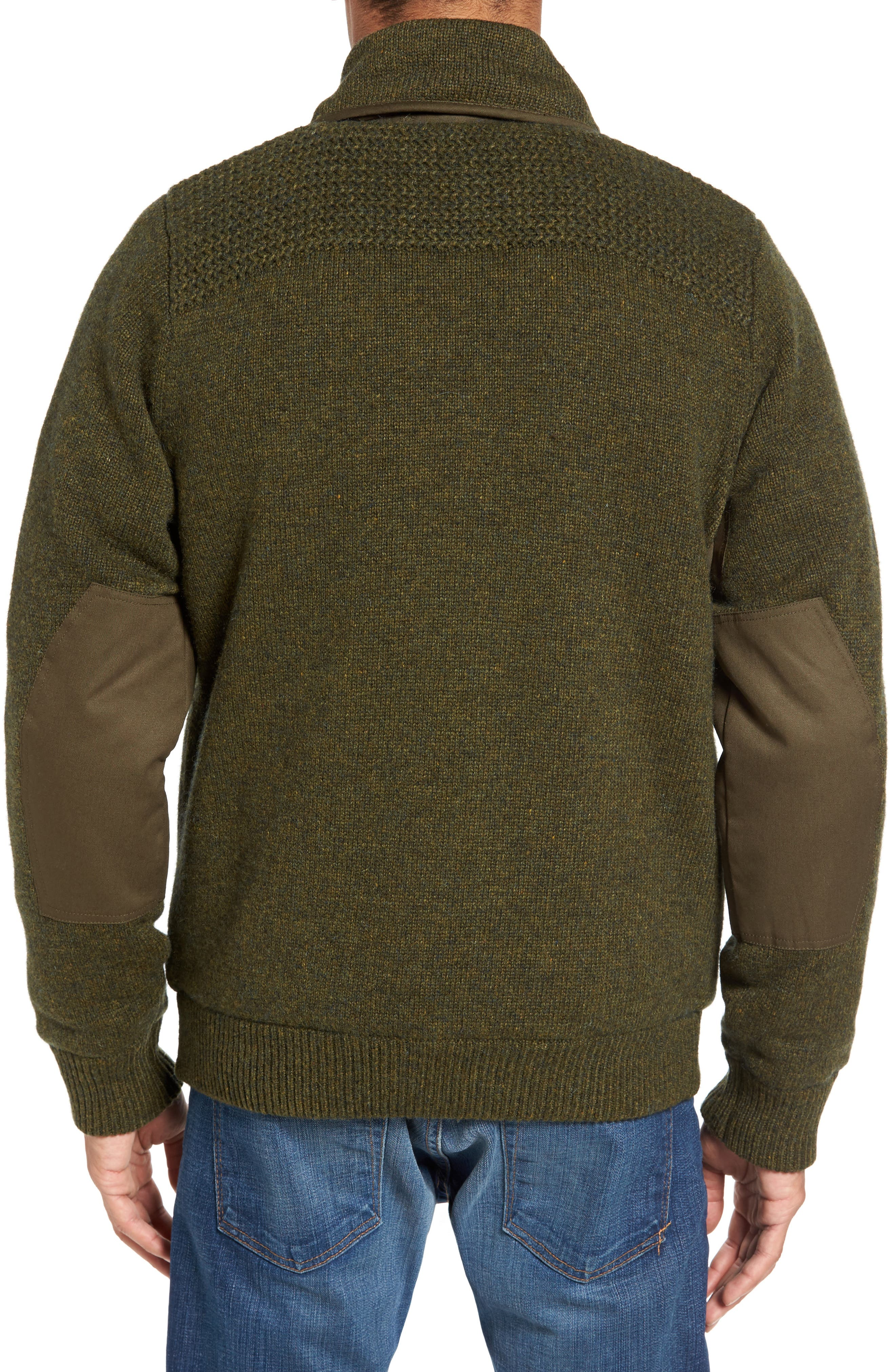 Military Sherpa-Lined Sweater Jacket,                             Alternate thumbnail 6, color,