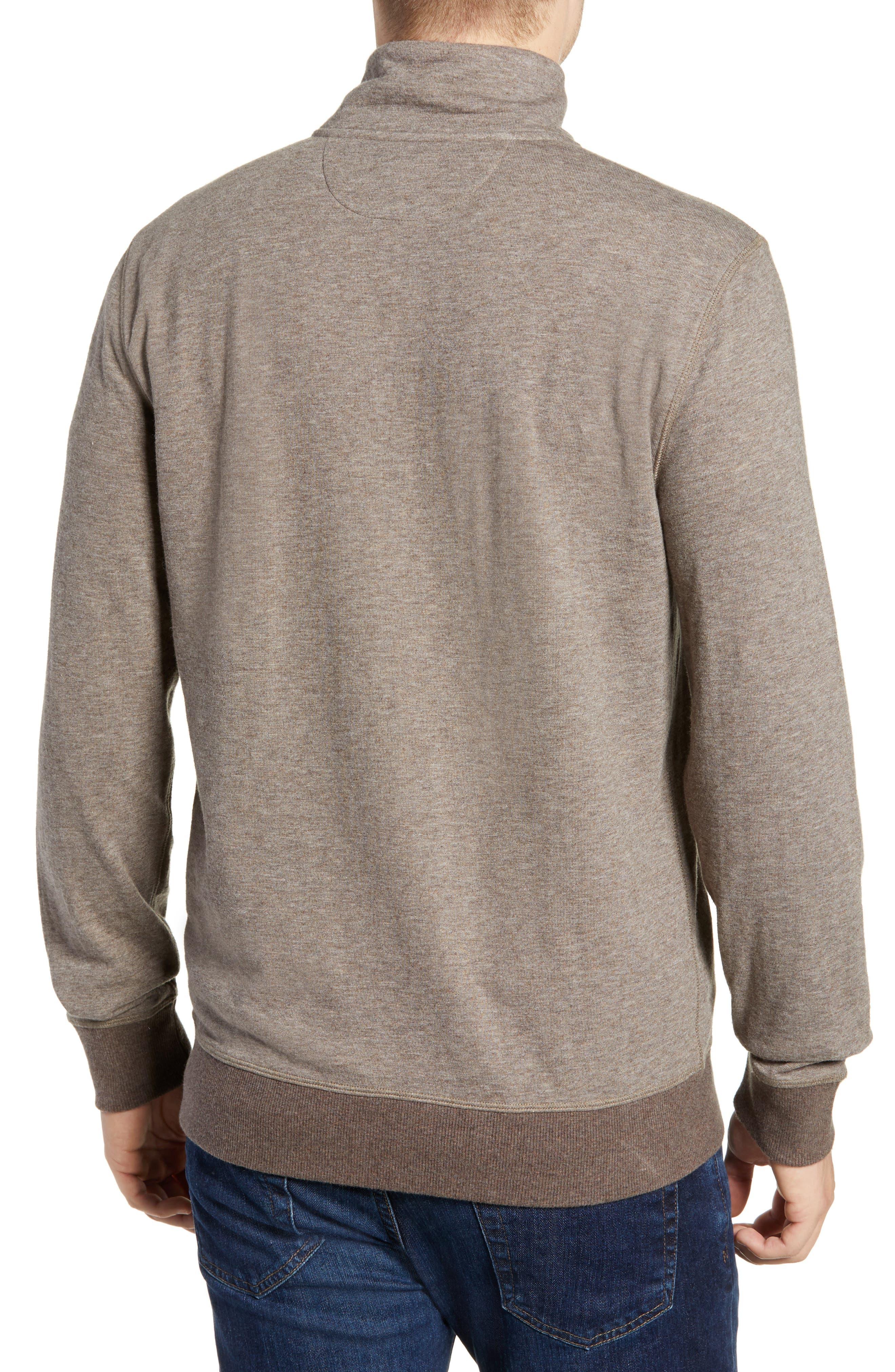 Dual Knit Regular Fit Quarter Zip Pullover,                             Alternate thumbnail 2, color,                             CHESTNUT