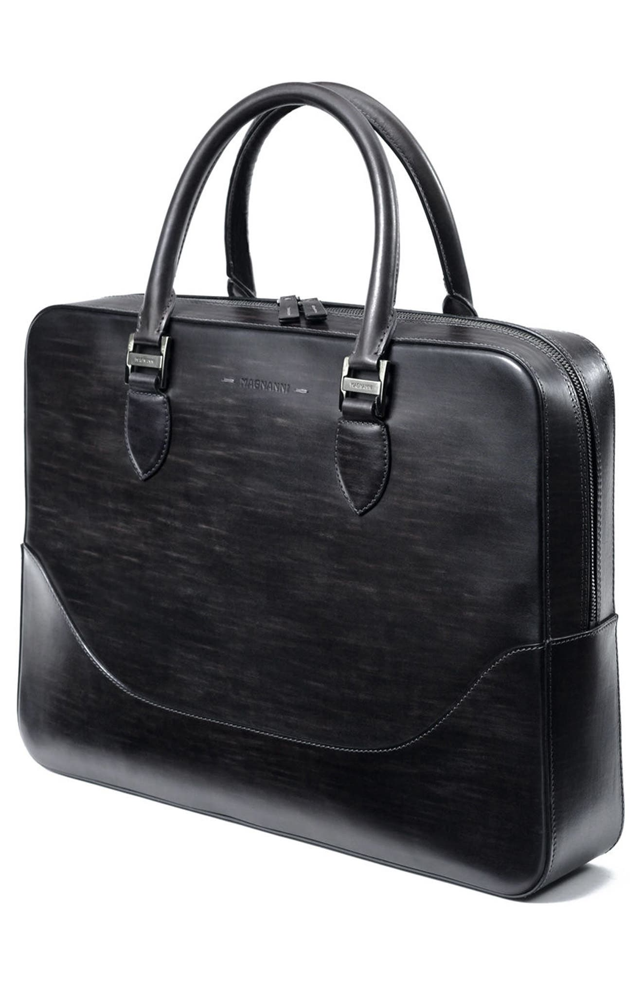 Medium Leather Briefcase,                             Alternate thumbnail 2, color,                             020