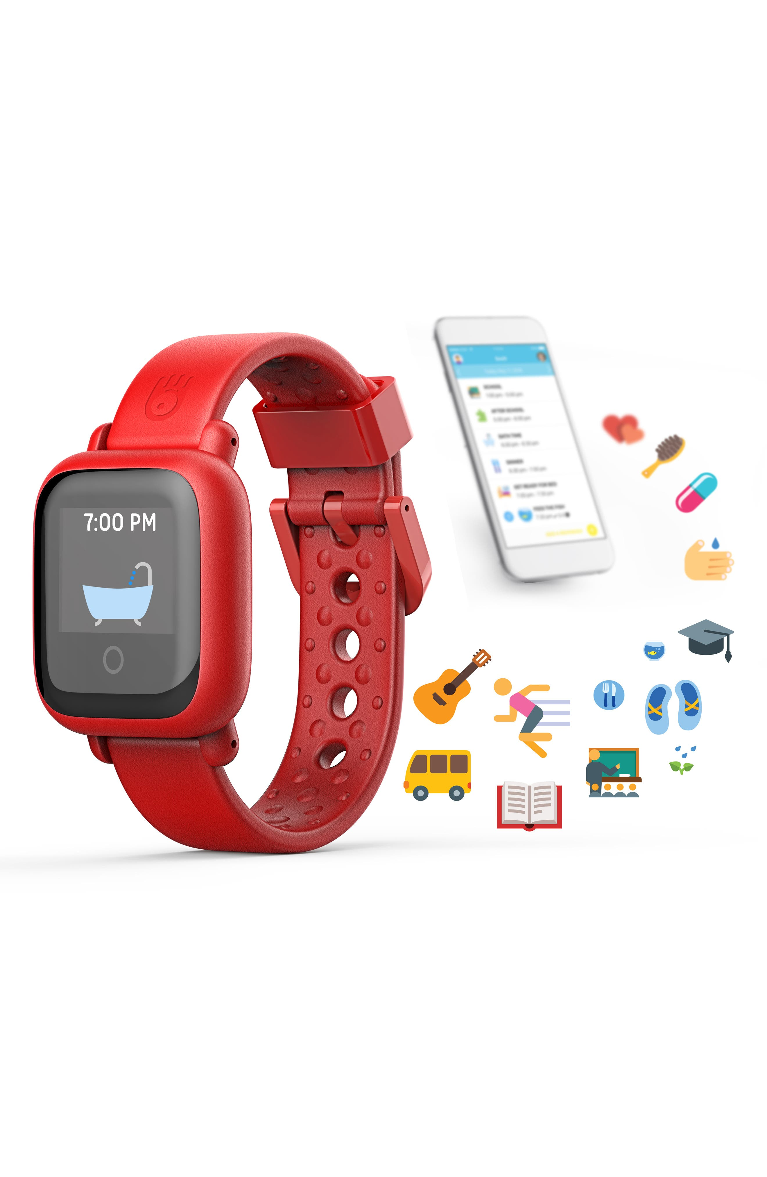 Motion Edition Smart Watch,                             Alternate thumbnail 2, color,                             RED
