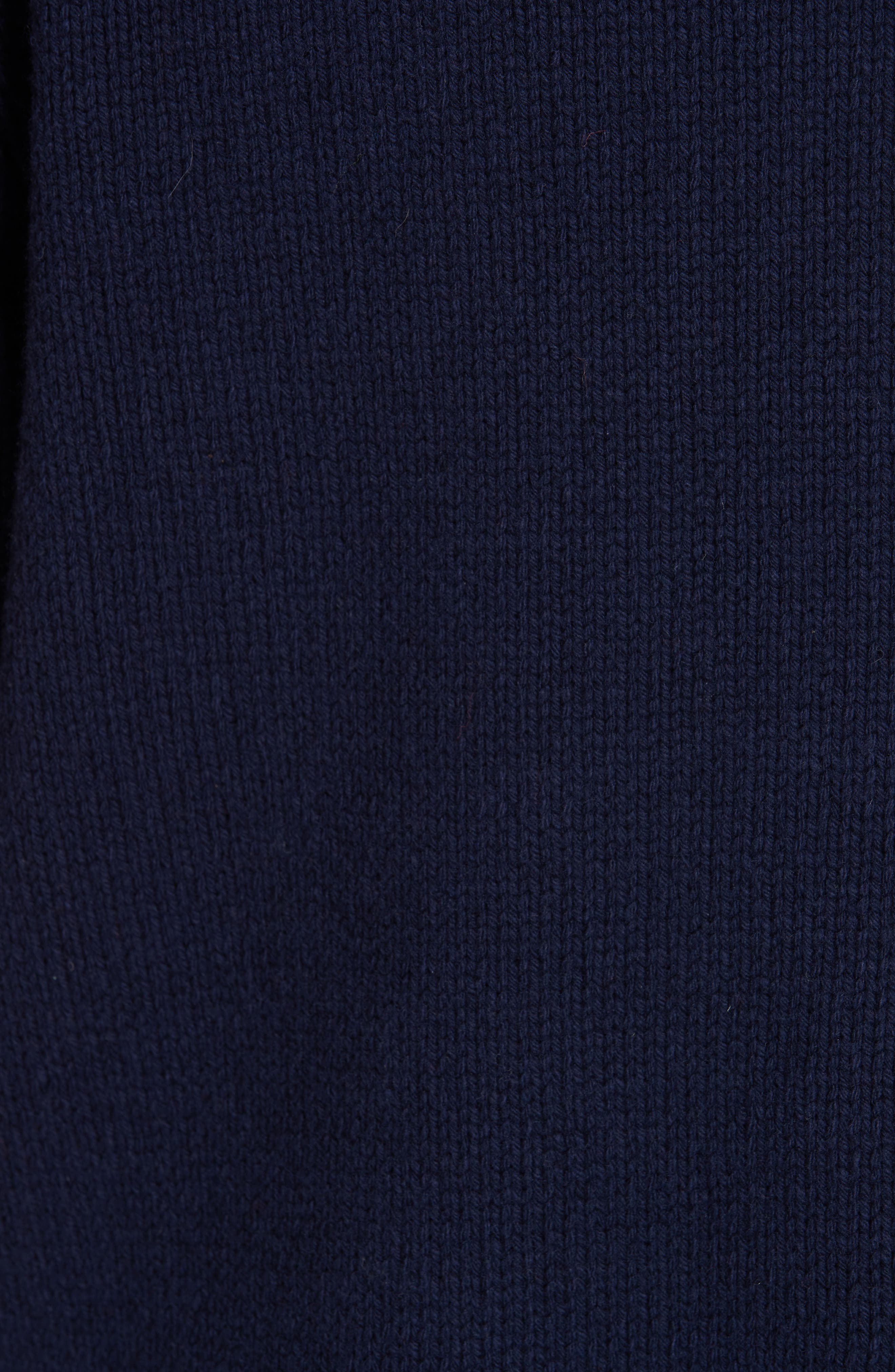 Fringe Flag Wool Sweater,                             Alternate thumbnail 5, color,                             NAVY MULTI