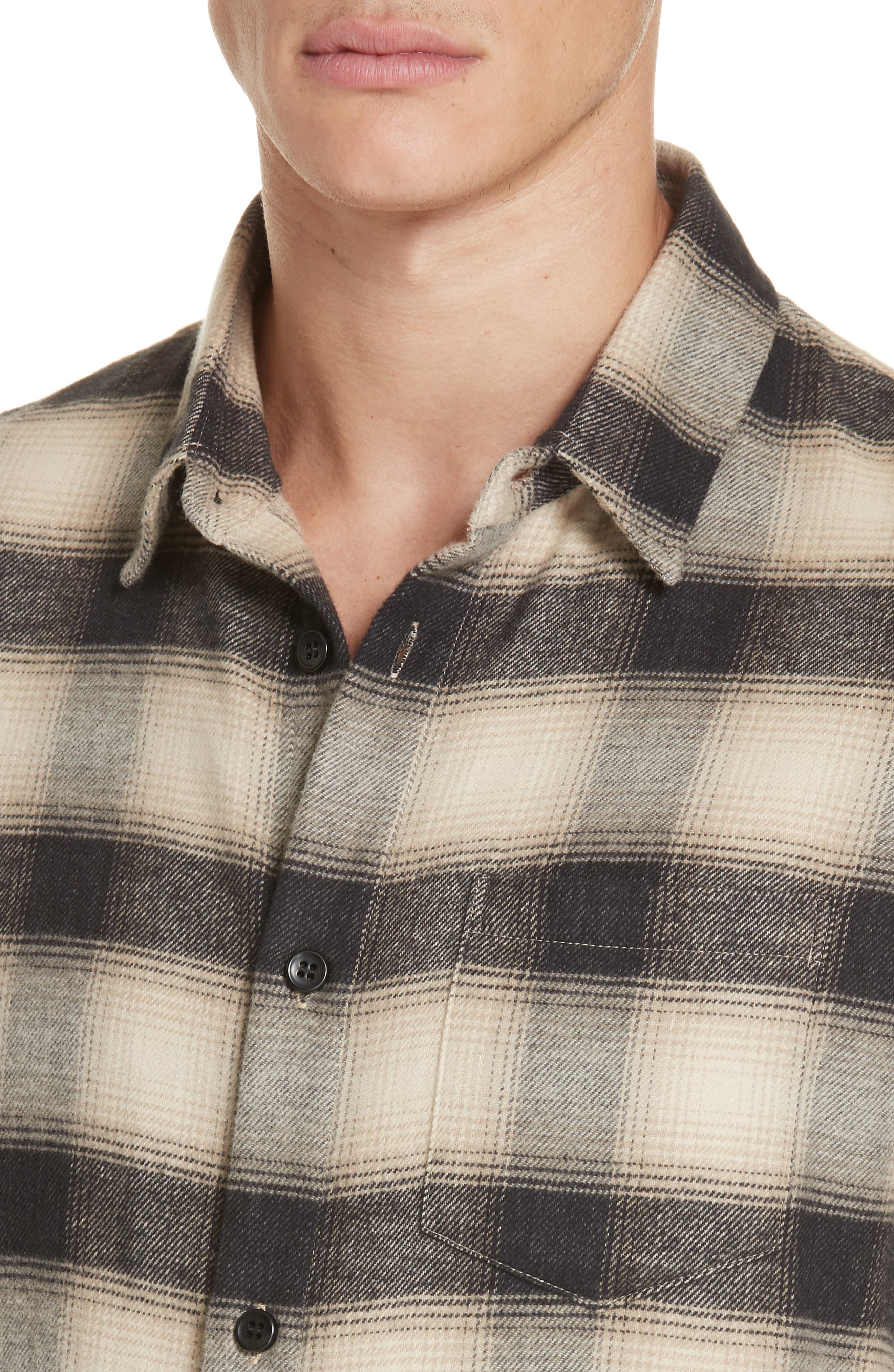 Brushed Flannel Shirt,                             Alternate thumbnail 2, color,                             101