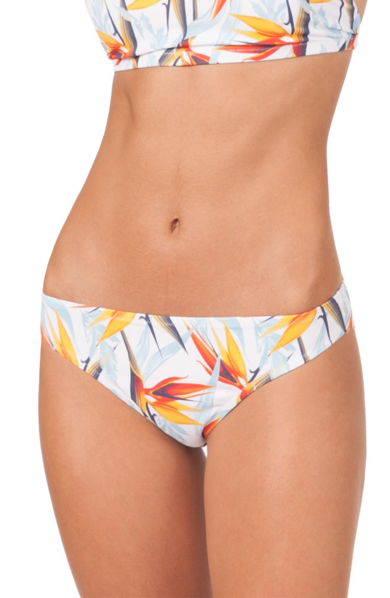 The Bikini Print Swim Bottoms,                             Main thumbnail 1, color,                             DAYBREAK PRINT