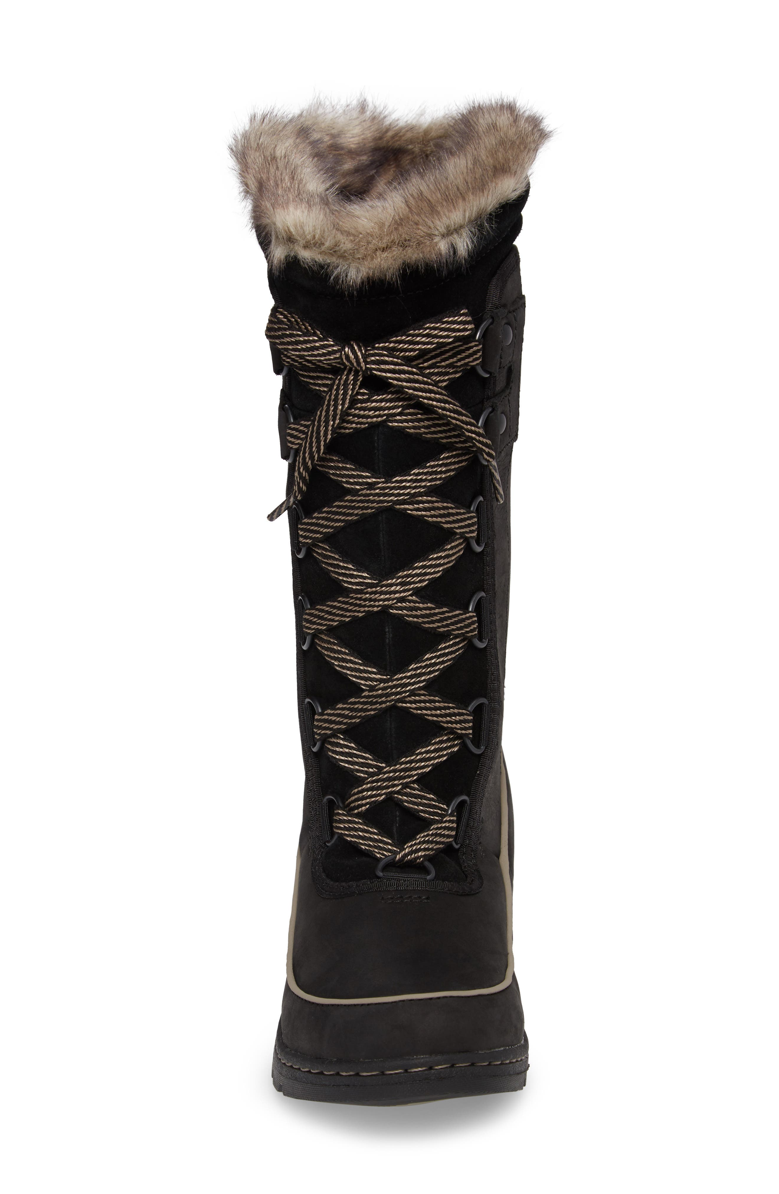 Tivoli II Insulated Winter Boot with Faux Fur Trim,                             Alternate thumbnail 4, color,                             010