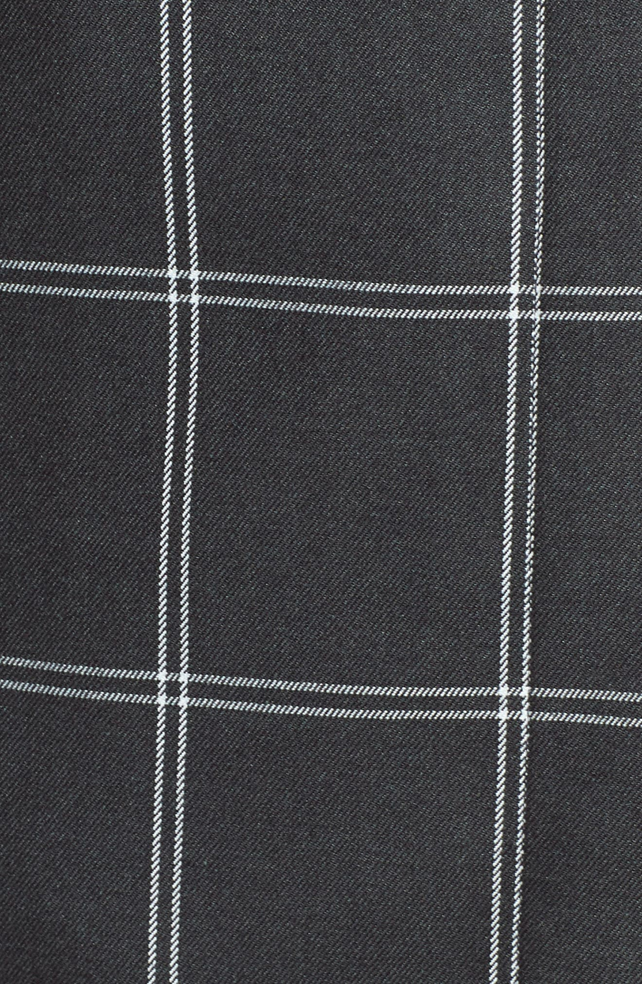 Windowpane Topper Jacket,                             Alternate thumbnail 5, color,                             GREY TWILL PLAID