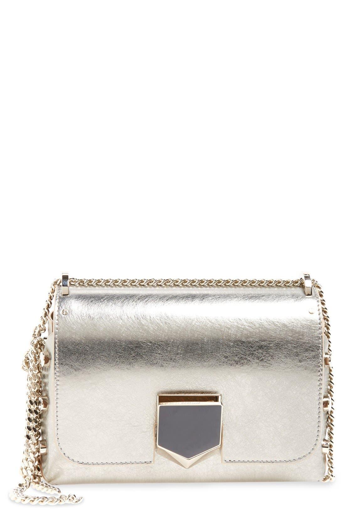 'Lockett Petite' Metallic Leather Shoulder Bag,                             Main thumbnail 2, color,