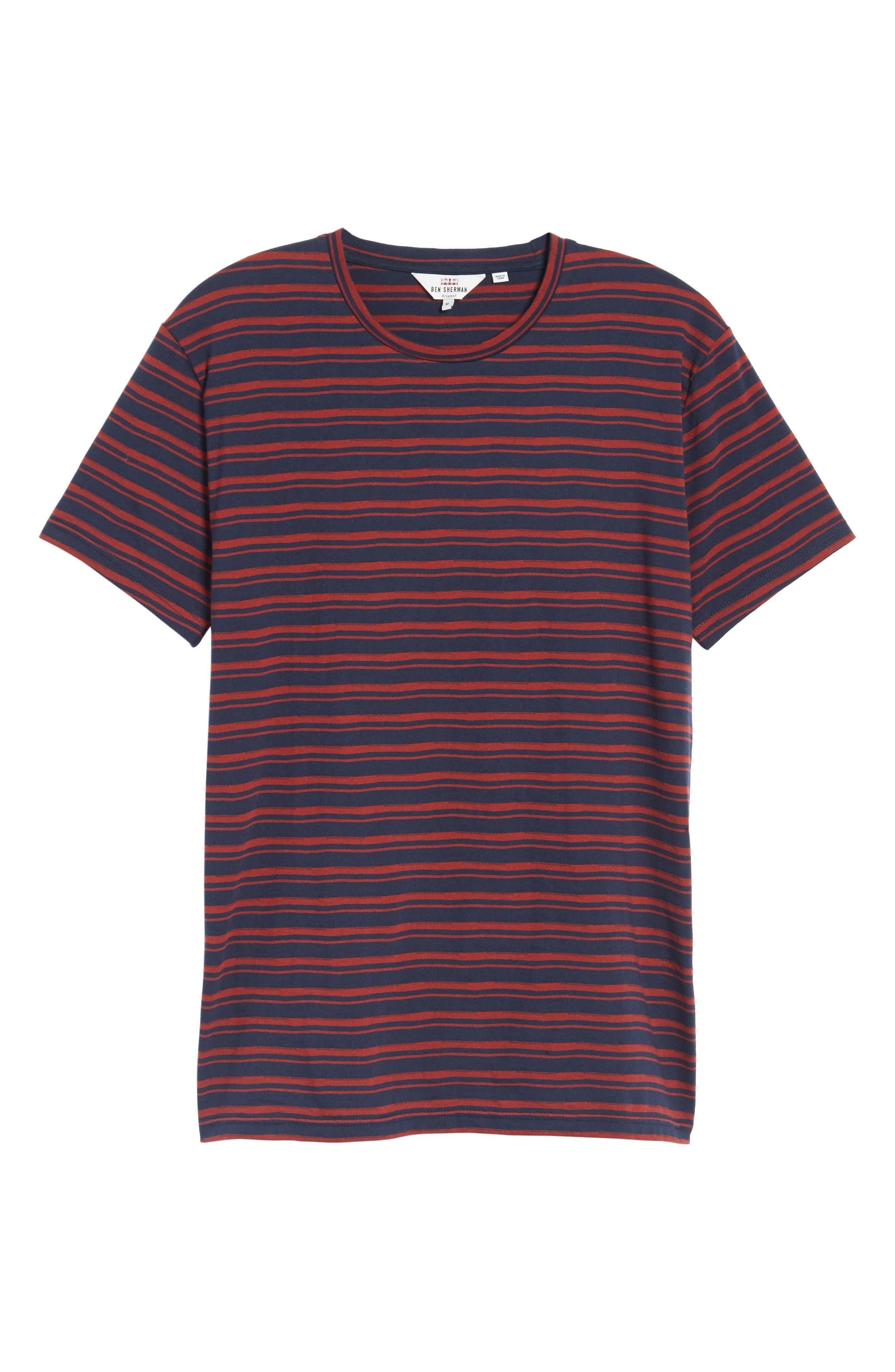 Distorted Stripe T-Shirt,                             Alternate thumbnail 6, color,