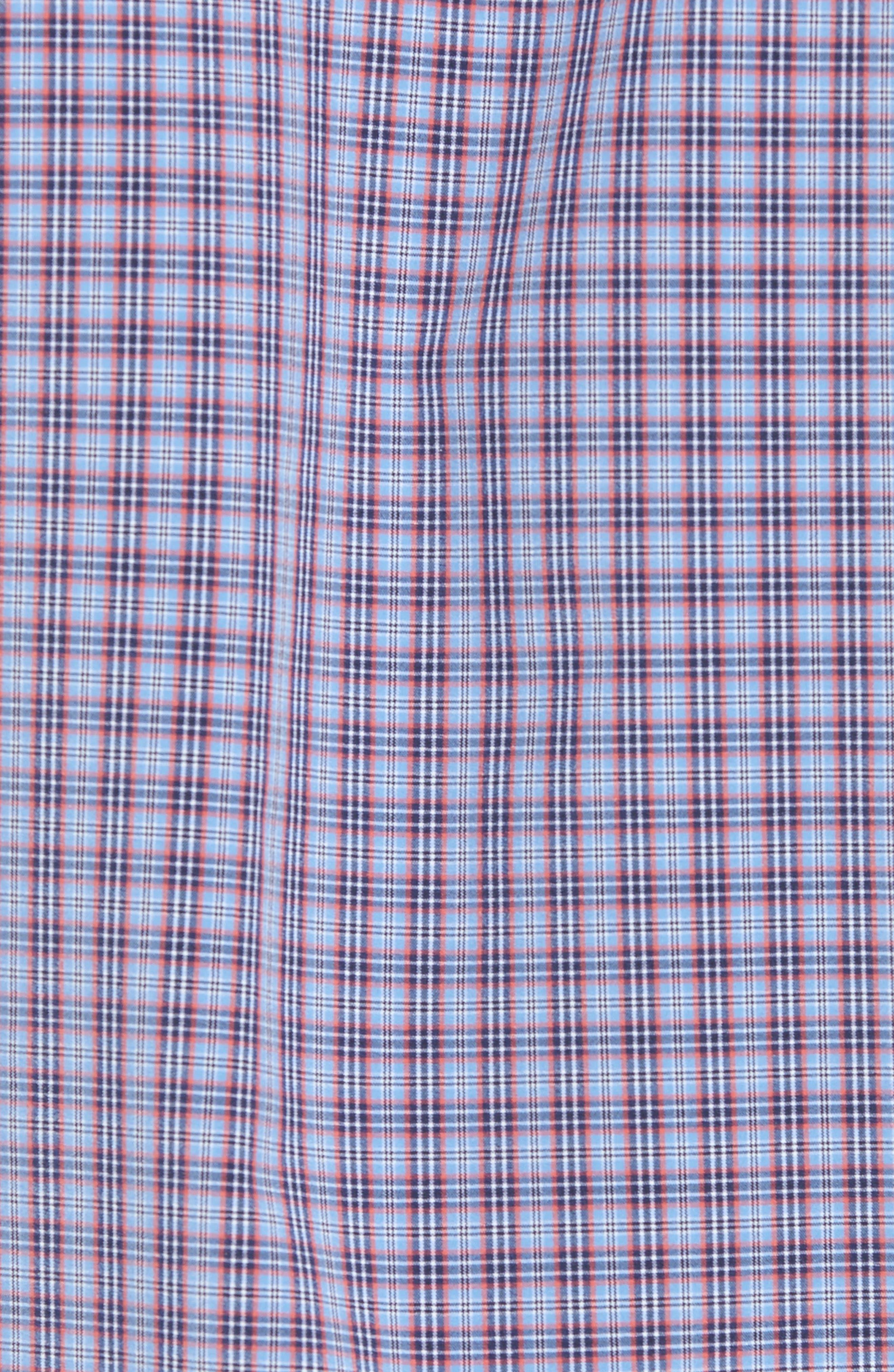Elliott Trim Fit Check Performance Sport Shirt,                             Alternate thumbnail 5, color,                             482