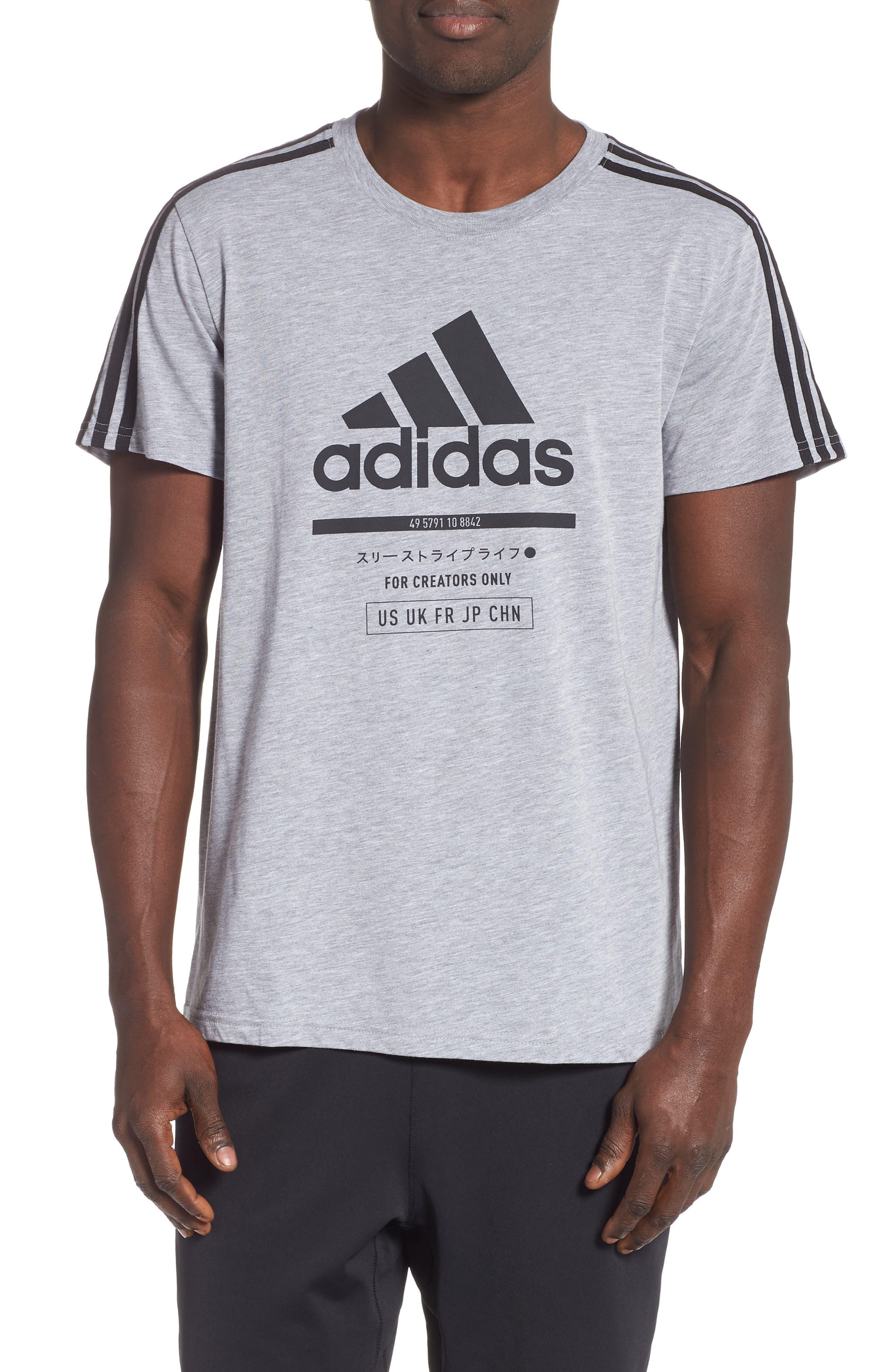Adidas Classic International T-Shirt, Grey