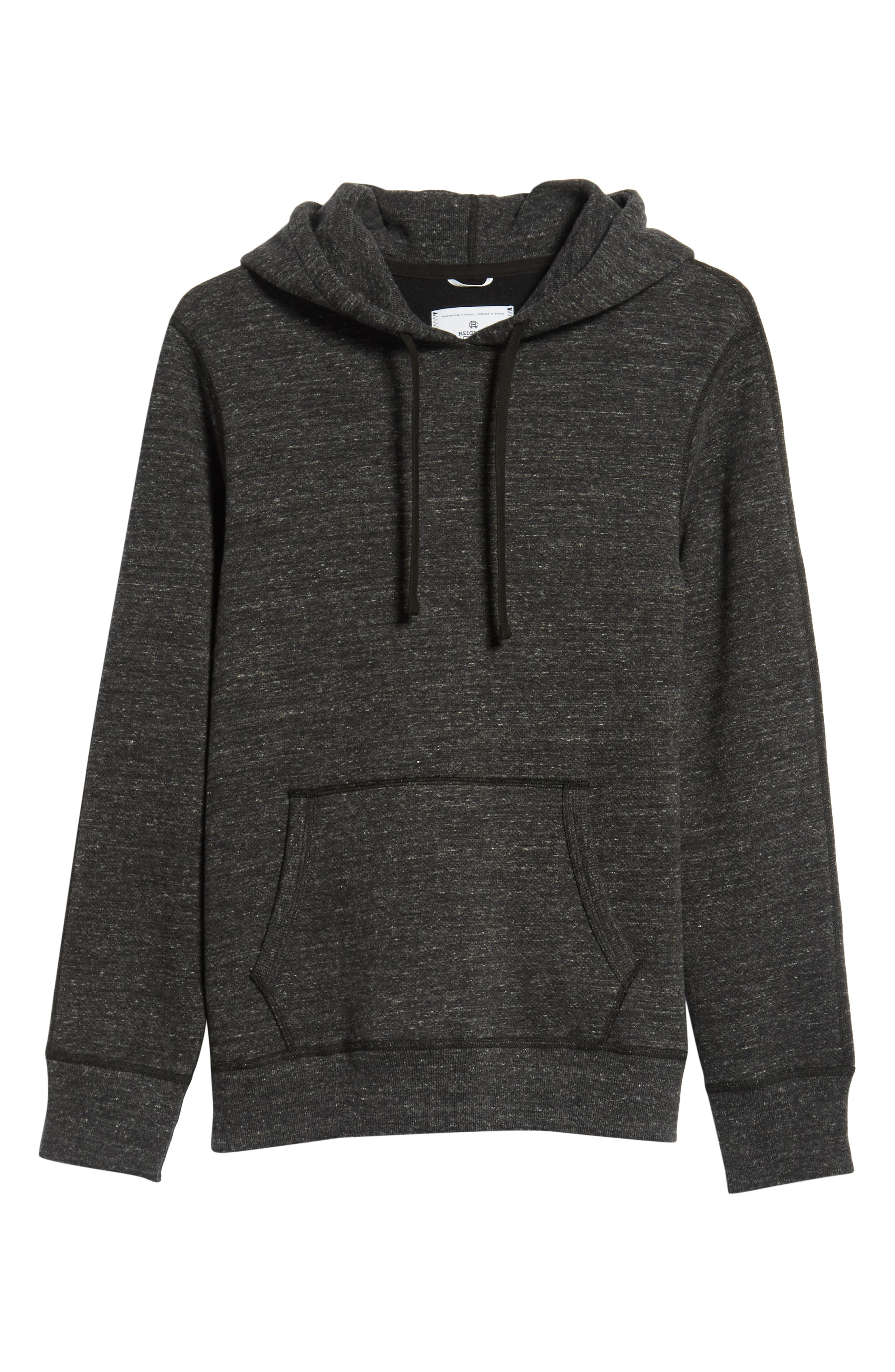 Trim Fit Side Zip Hooded Sweatshirt,                             Alternate thumbnail 6, color,                             020