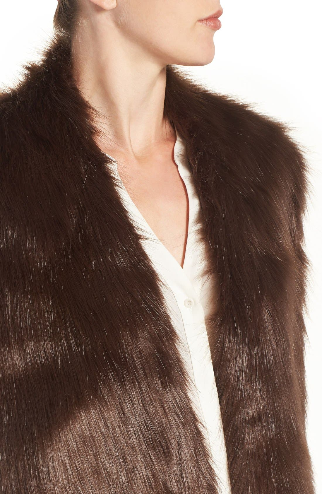 Faux Mink Stole,                             Alternate thumbnail 18, color,