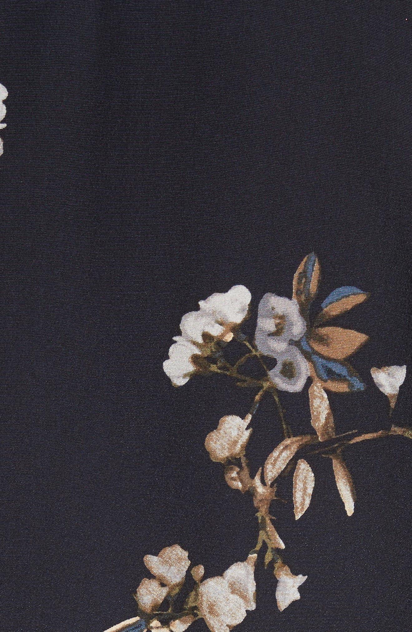 Silk Floral Shirtdress,                             Alternate thumbnail 5, color,