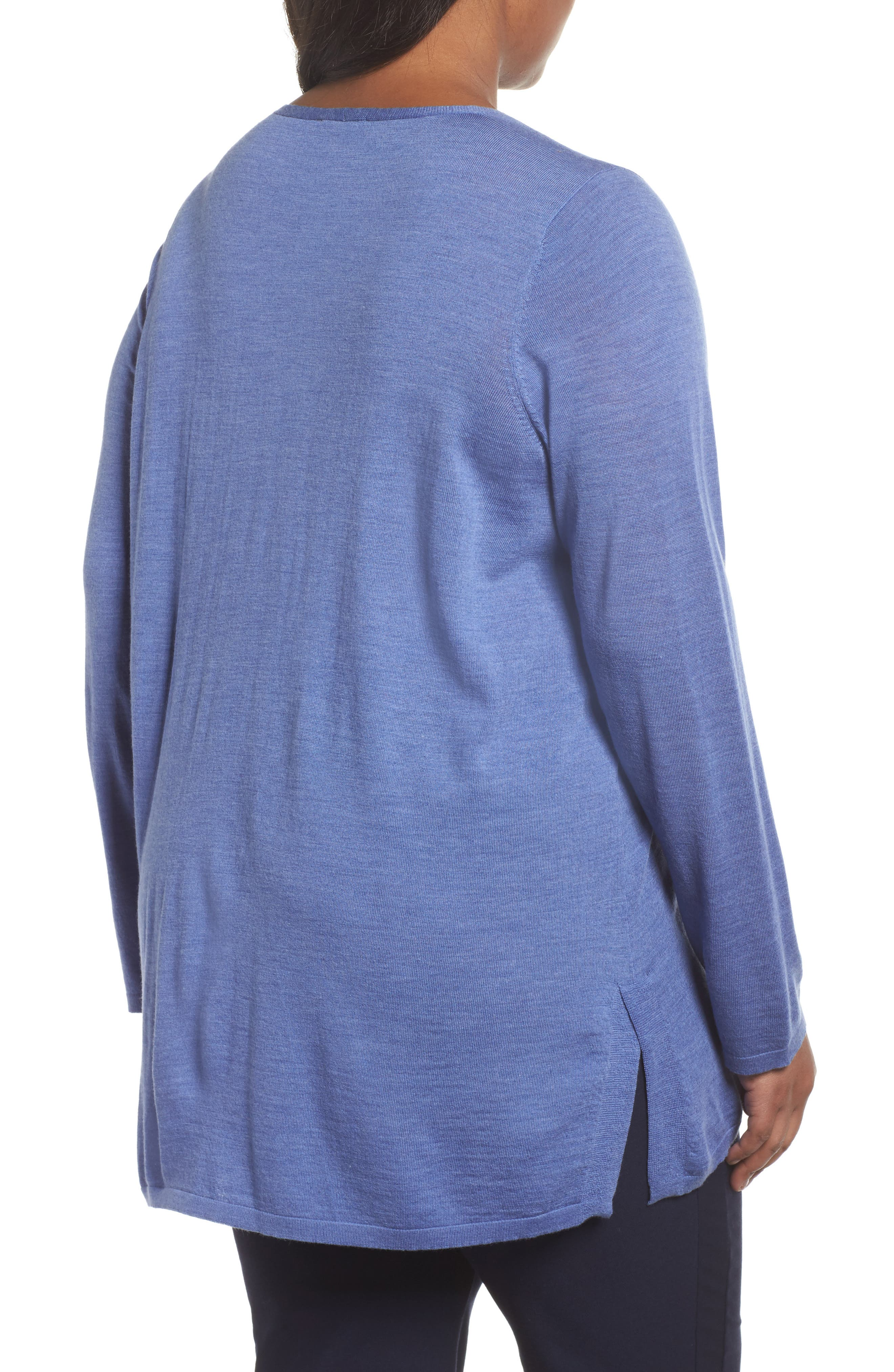 Merino Wool Tunic Sweater,                             Alternate thumbnail 8, color,