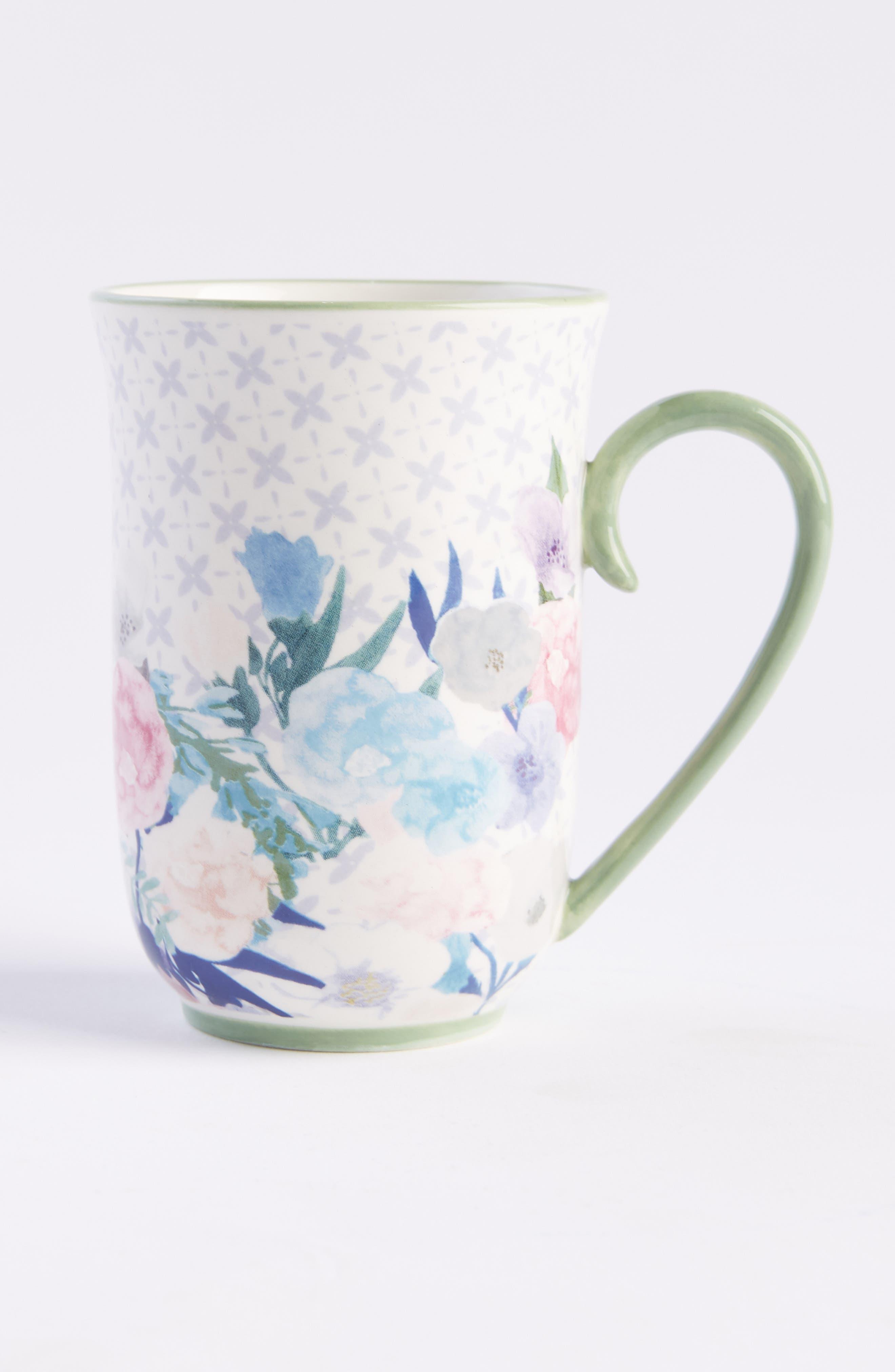 Jioletta Set of 4 Mugs,                             Main thumbnail 1, color,                             LIGHT GREEN