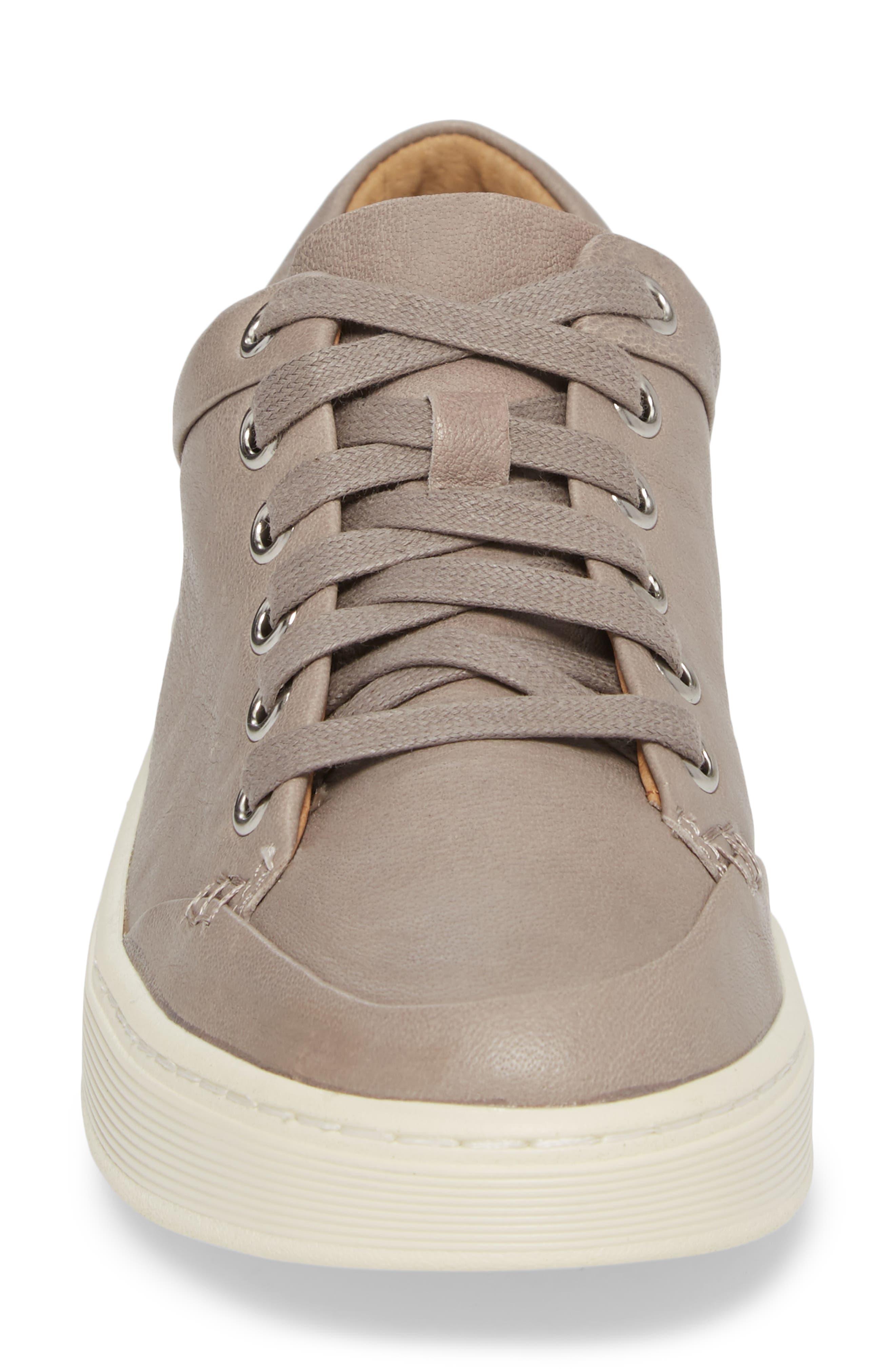 Sanders Sneaker,                             Alternate thumbnail 4, color,                             ZINCO GREY LEATHER