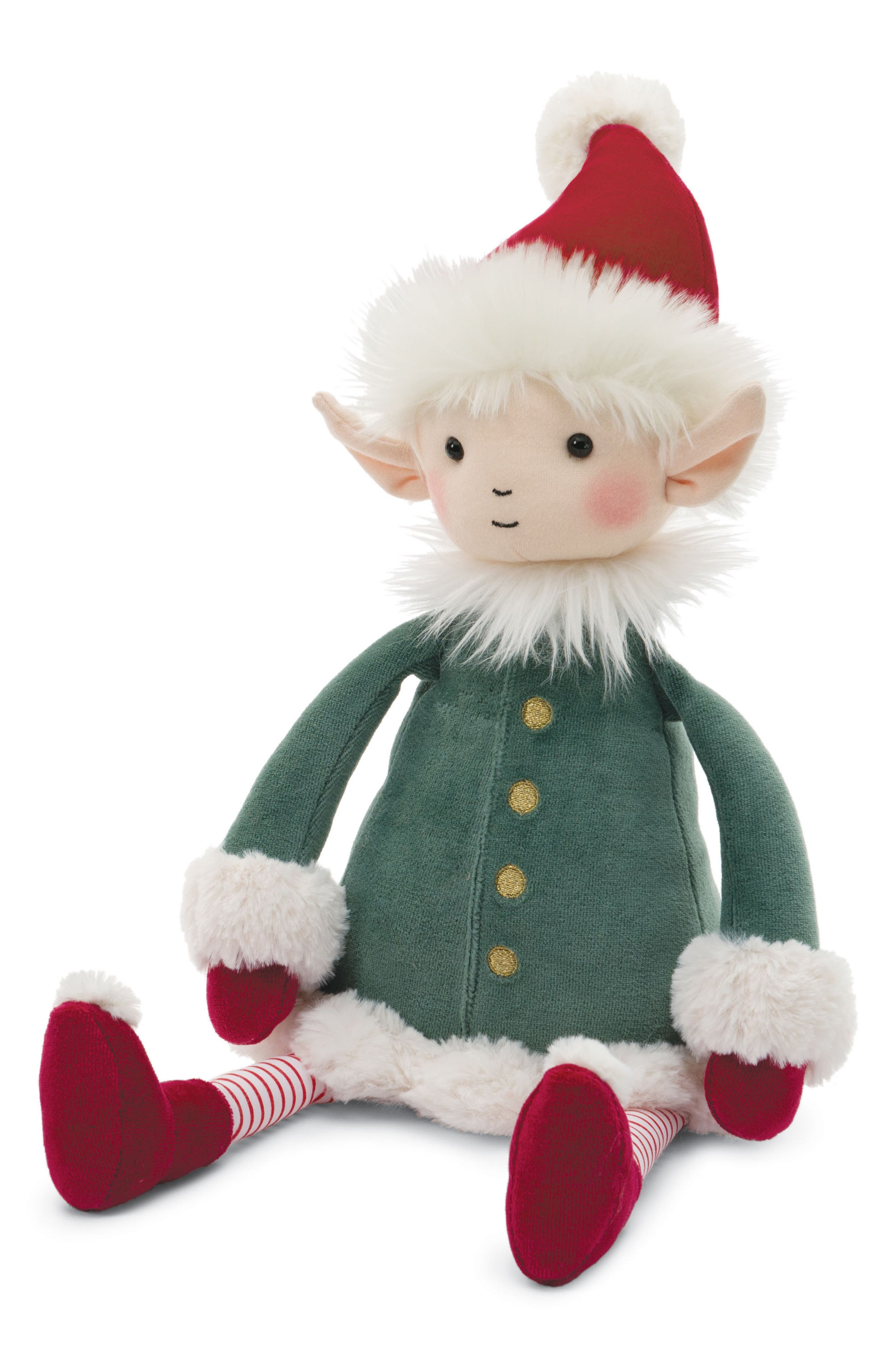Elf Stuffed Doll,                             Main thumbnail 1, color,                             GREEN/ RED