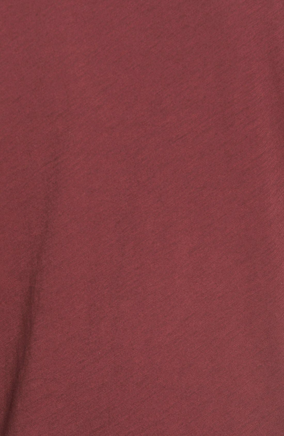 Whisper Cotton V-Neck Pocket Tee,                             Alternate thumbnail 207, color,