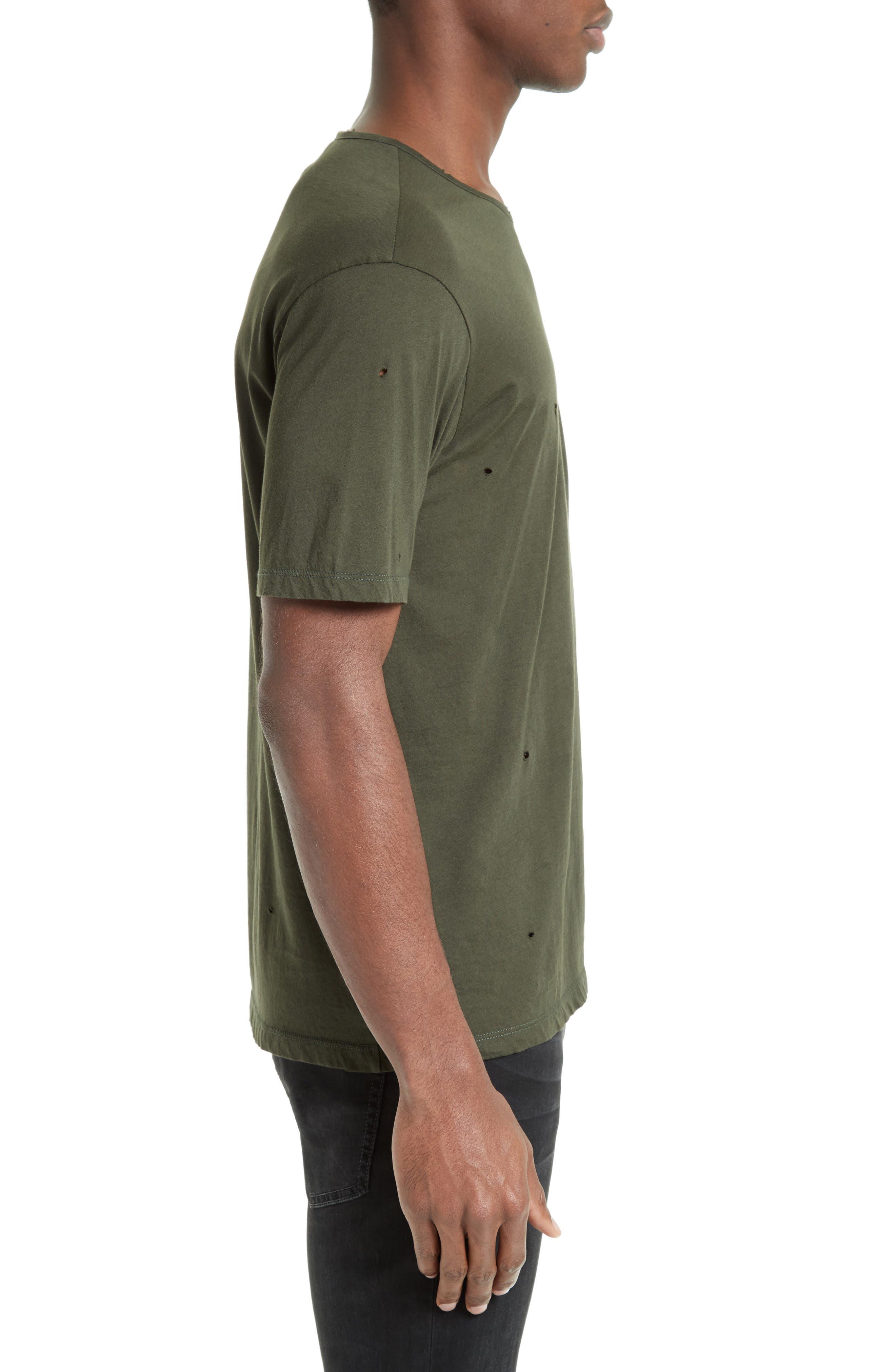 Leather Pocket T-Shirt,                             Alternate thumbnail 3, color,                             300