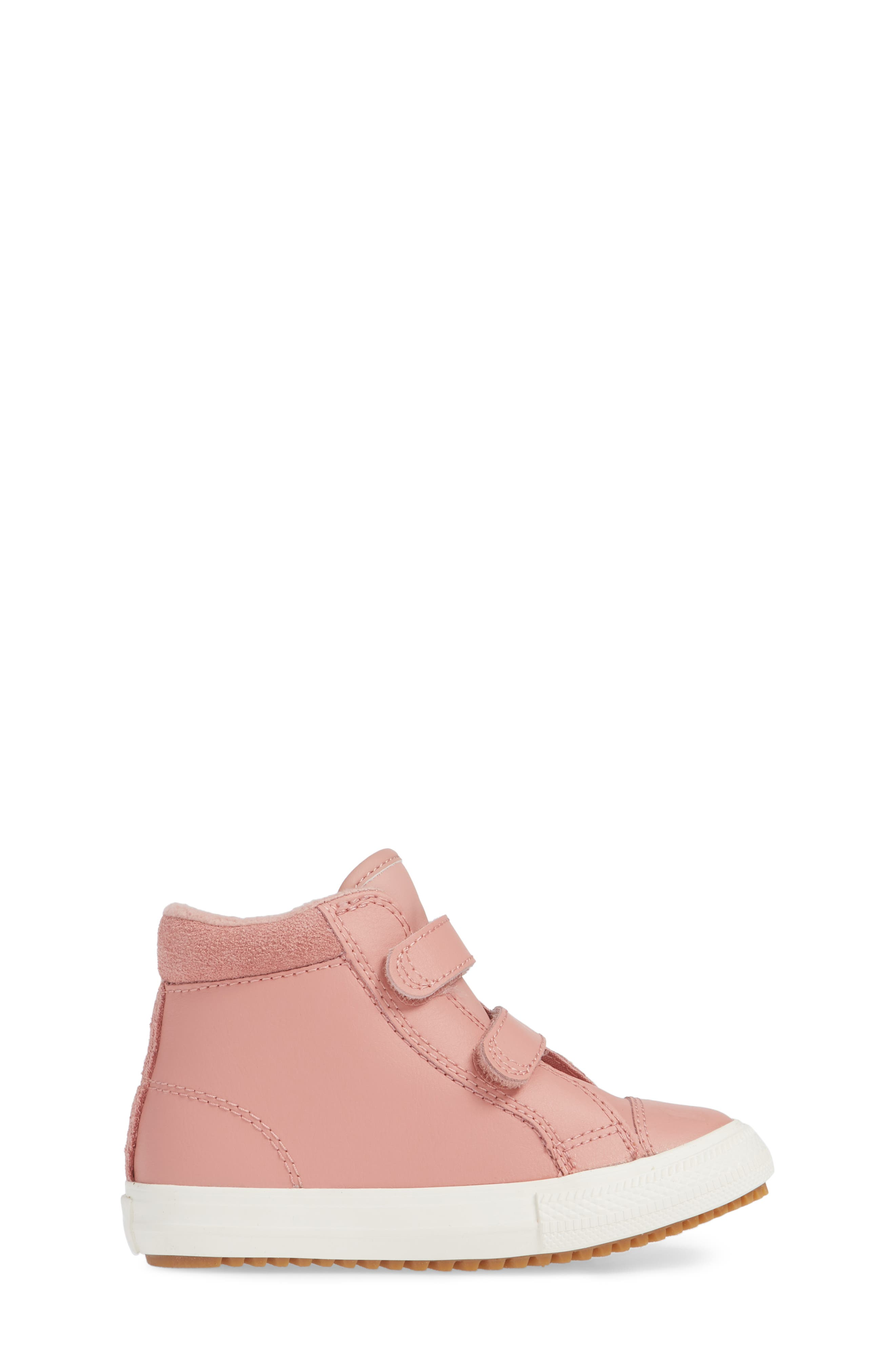 Chuck Taylor<sup>®</sup> All Star<sup>®</sup> 2V Leather High Top Sneaker,                             Alternate thumbnail 3, color,                             RUST PINK