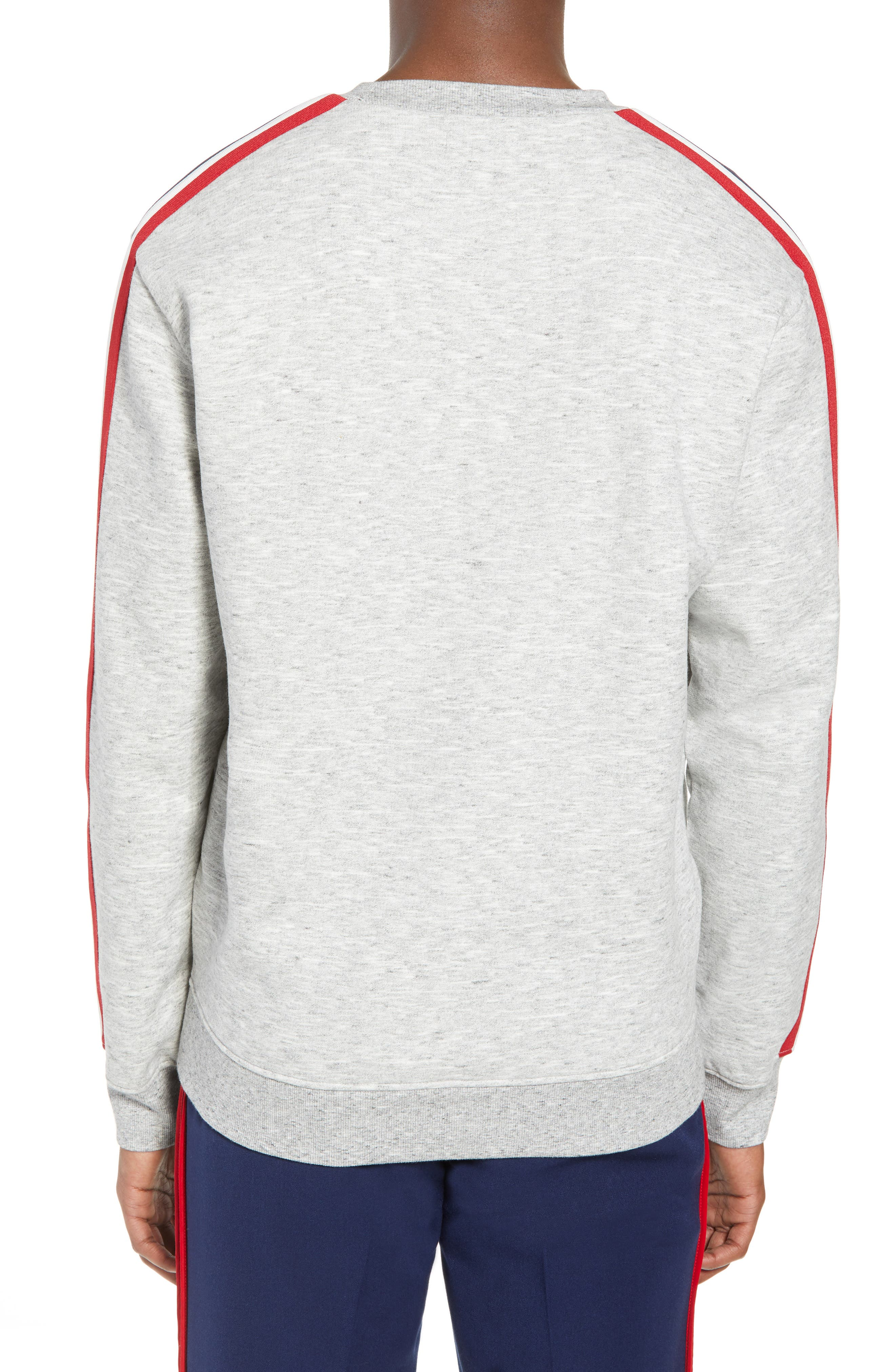 French Stripe Tape Sweatshirt,                             Alternate thumbnail 2, color,                             050