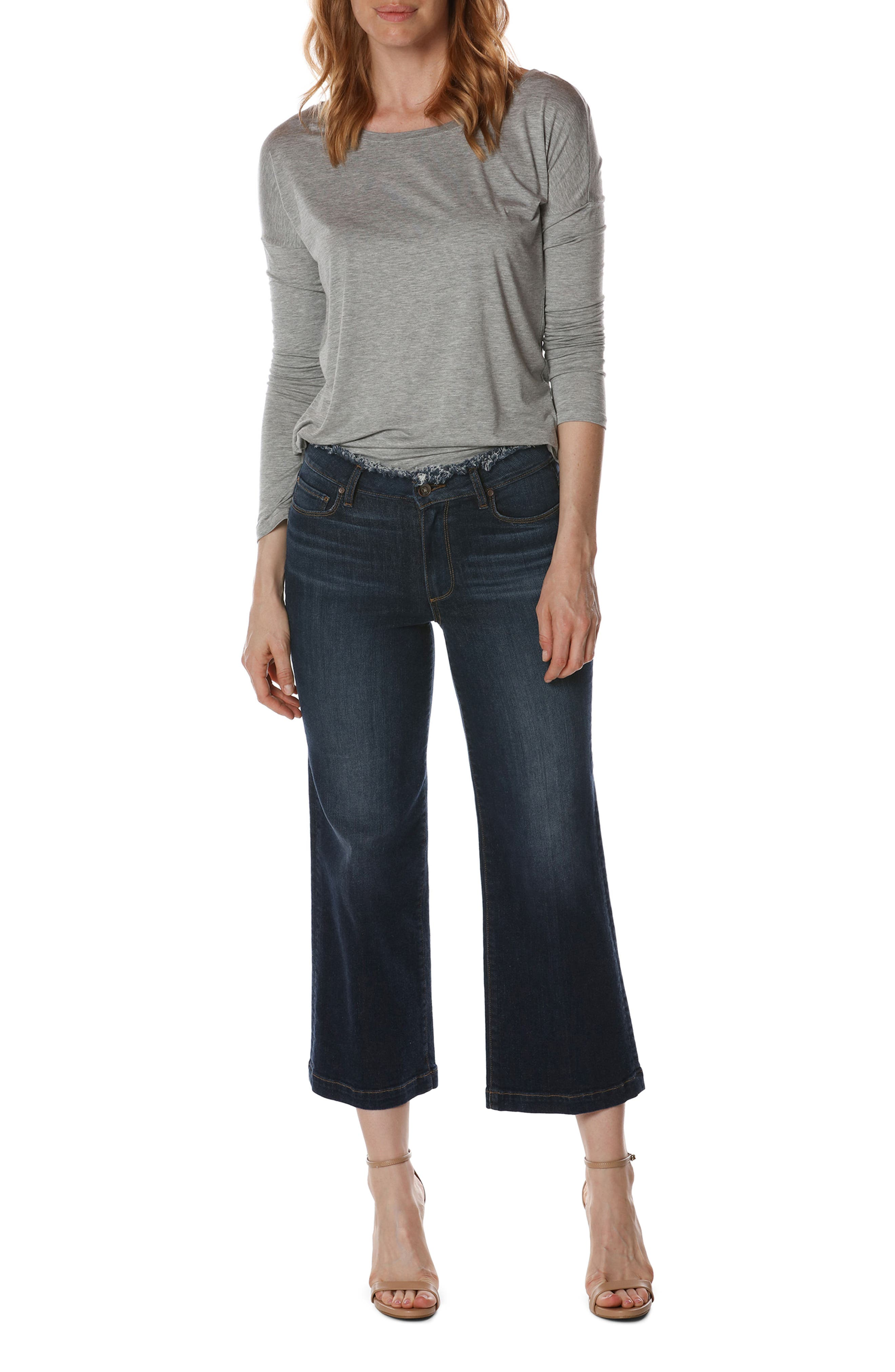Lori Crop Wide Leg Jeans,                             Alternate thumbnail 2, color,                             400
