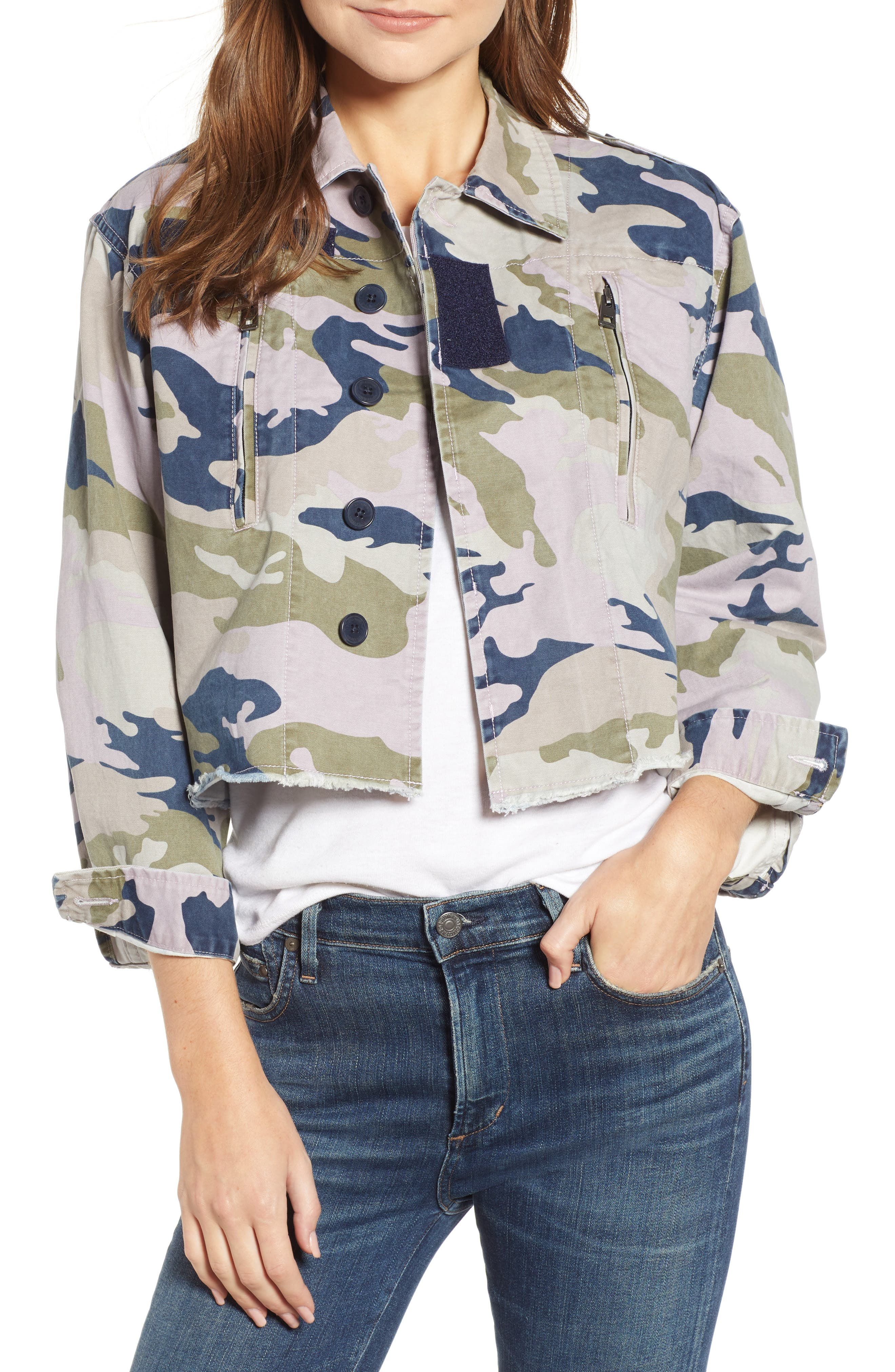 Camo Jacket,                             Main thumbnail 1, color,                             PARME