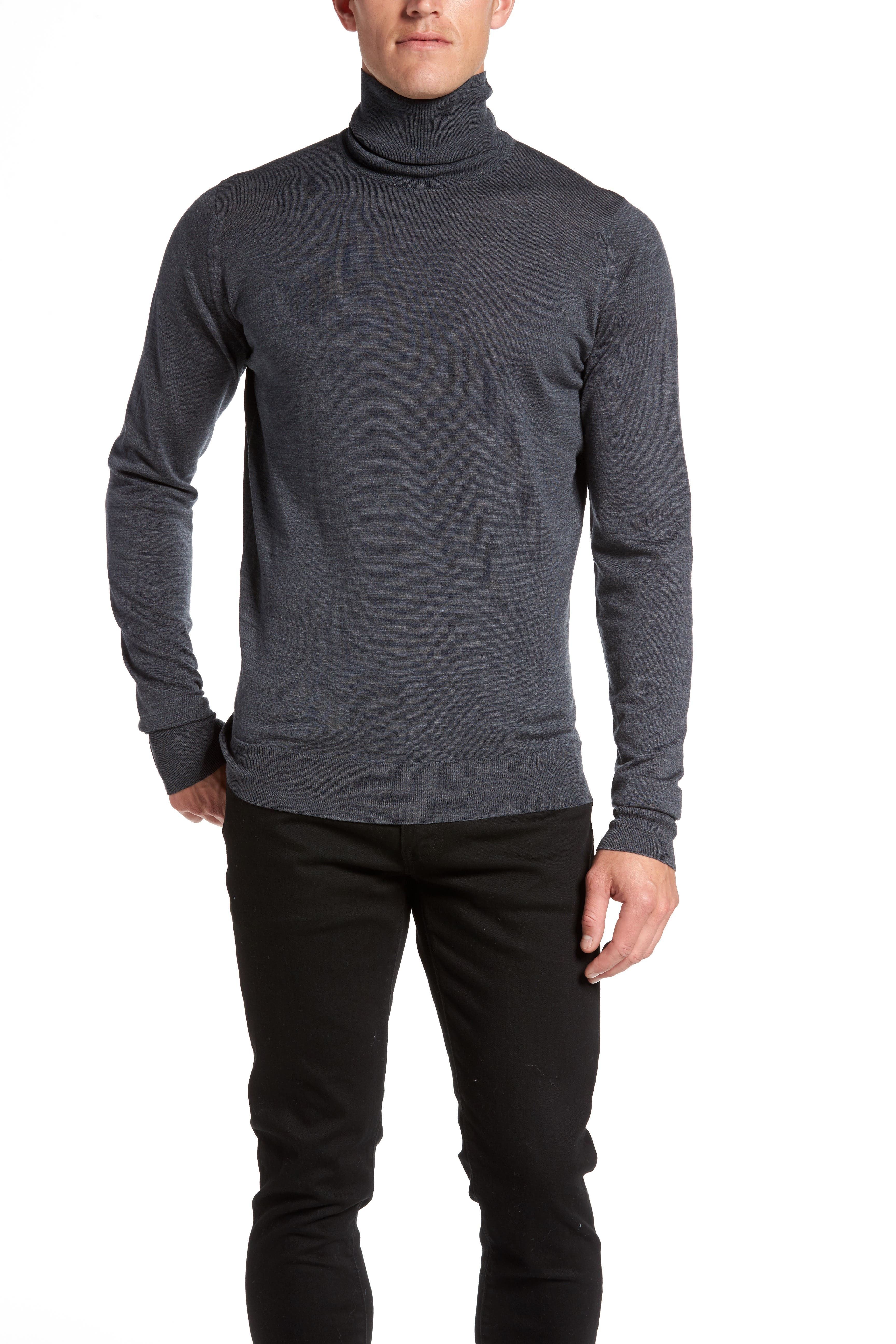 'Richards' Easy Fit Turtleneck Wool Sweater,                             Alternate thumbnail 13, color,