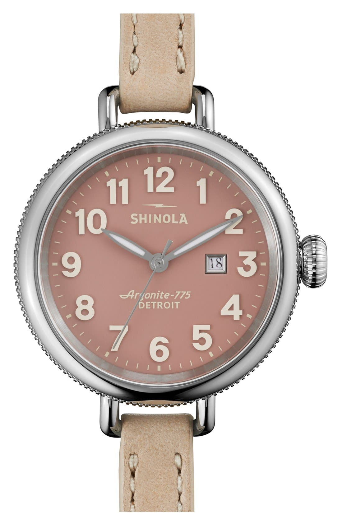 'The Birdy' Double Wrap Leather Strap Watch, 34mm,                             Main thumbnail 7, color,