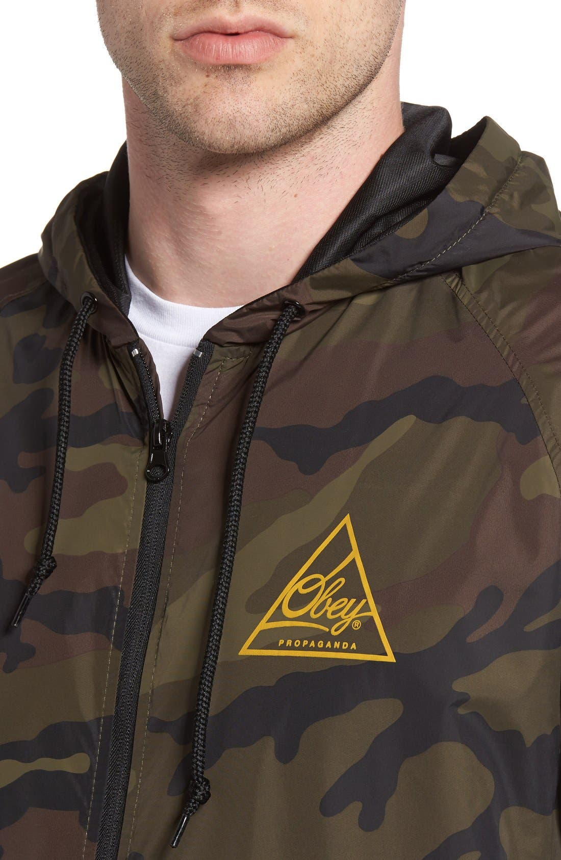 Next Round 2 Hooded Coach Jacket,                             Alternate thumbnail 8, color,                             305