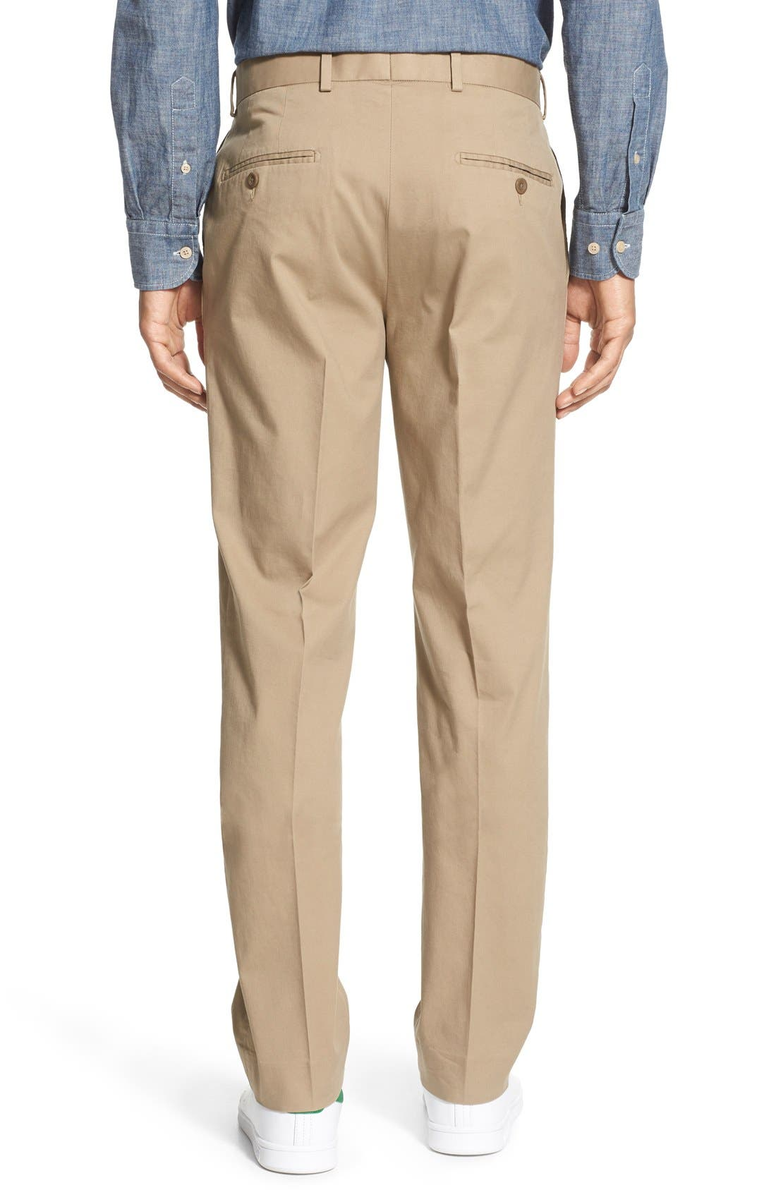 Washed Trim Fit Stretch Cotton Trousers,                             Alternate thumbnail 12, color,
