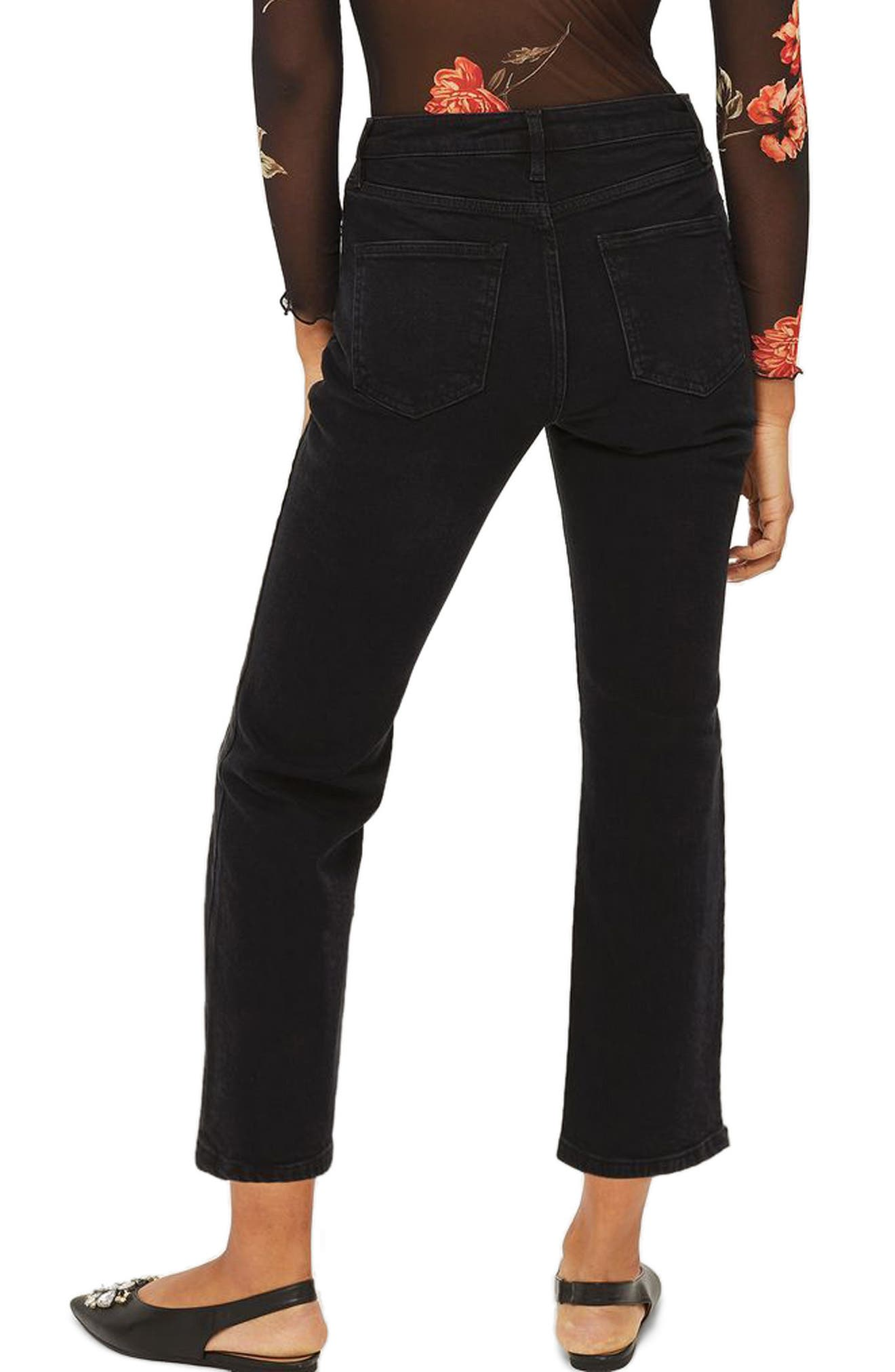 Dree Crop Flare Jeans,                             Alternate thumbnail 2, color,                             001