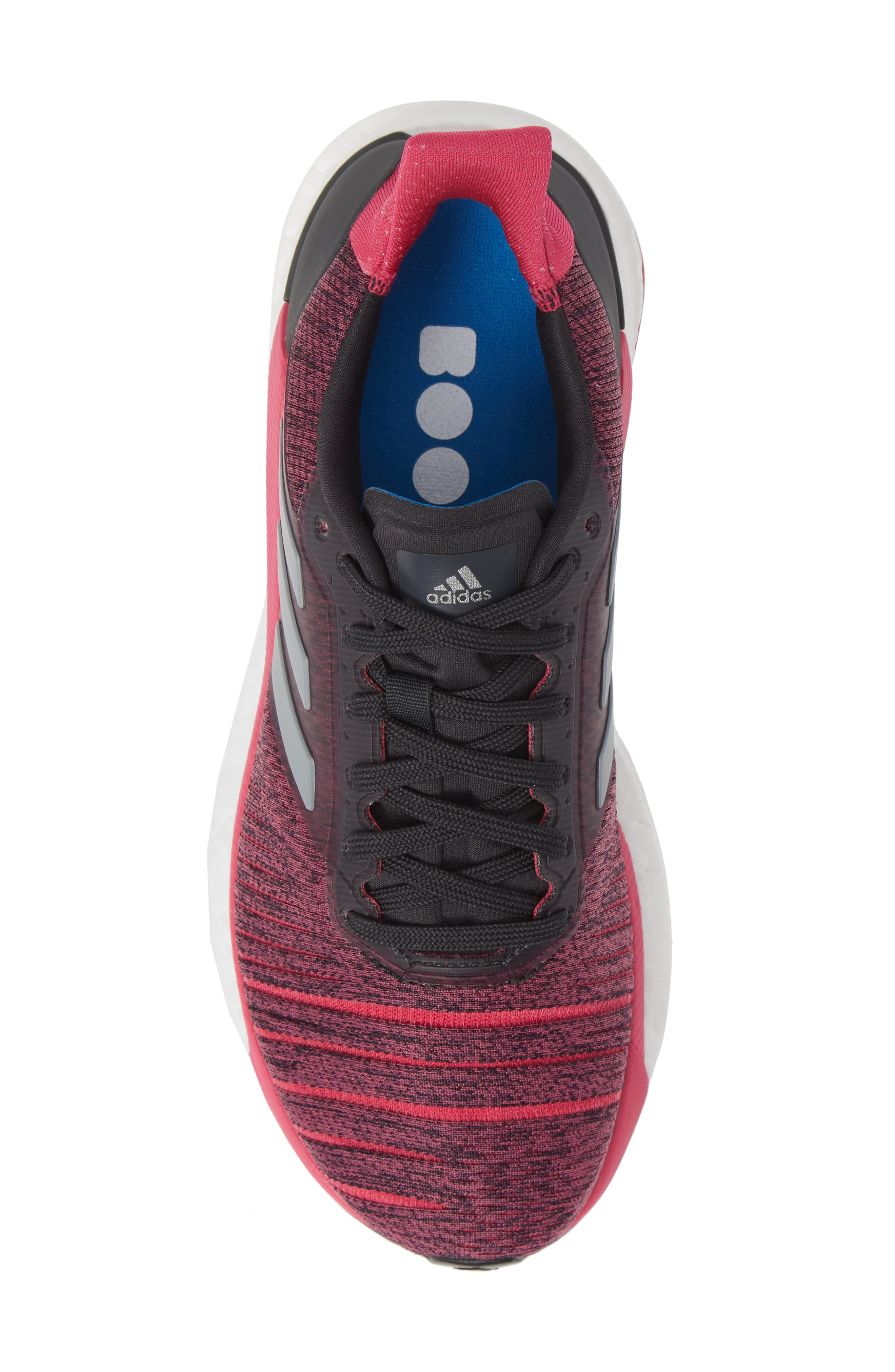 Solar Glide Running Shoe,                             Alternate thumbnail 5, color,                             CARBON/ GREY THREE/ MAGENTA