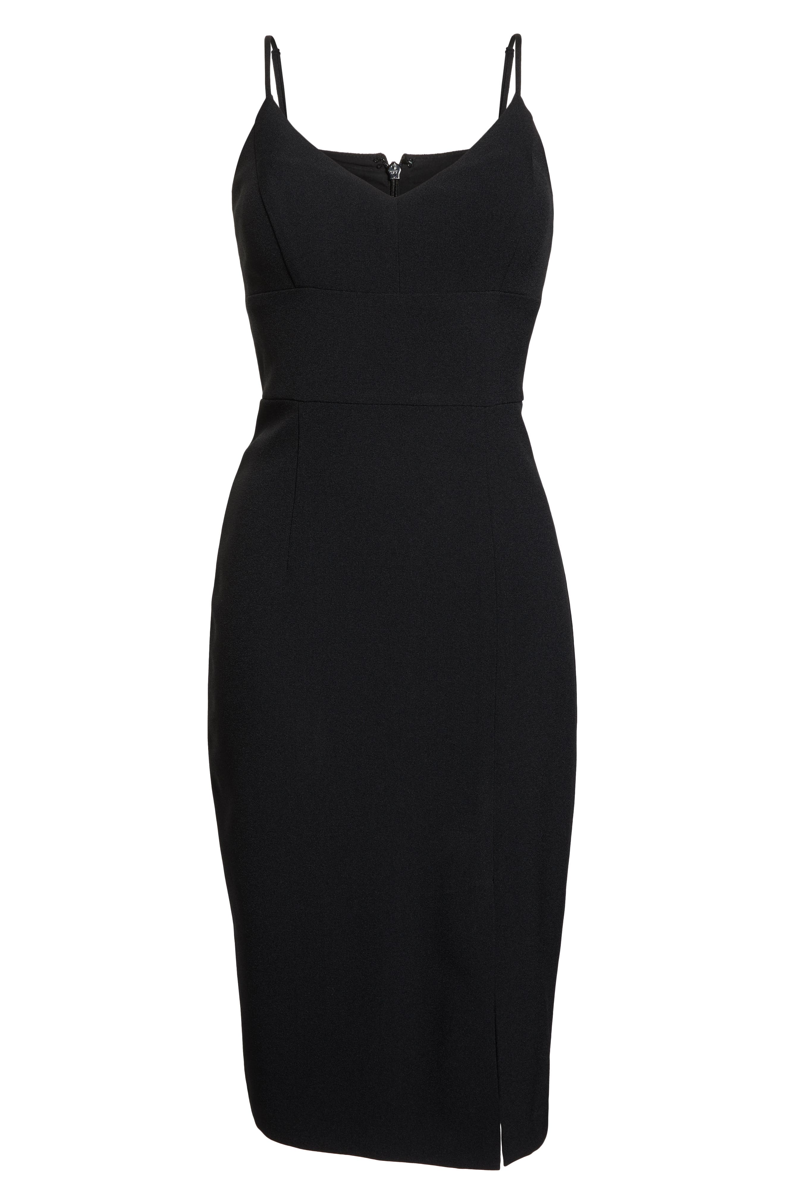 Sleeveless Cocktail Dress,                             Alternate thumbnail 7, color,                             BLACK