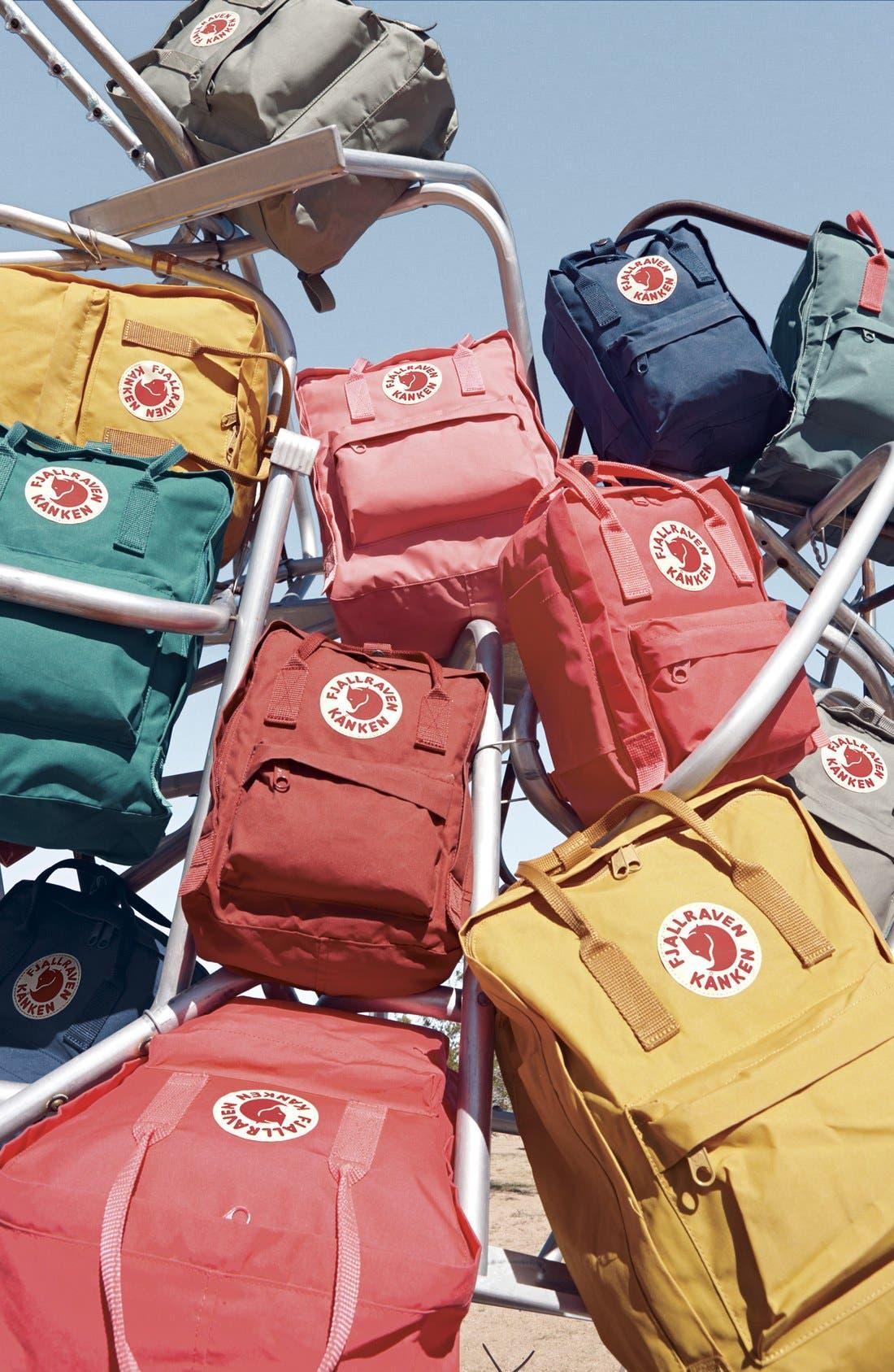 'Kånken' Water Resistant Backpack,                             Alternate thumbnail 9, color,                             GLACIER GREEN