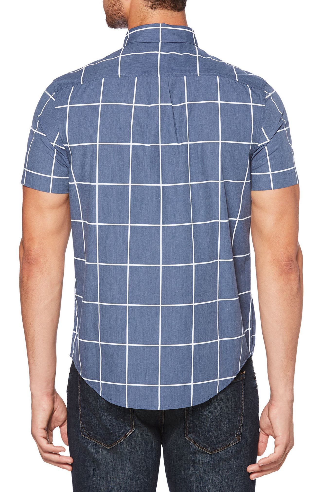 Windowpane Woven Shirt,                             Alternate thumbnail 2, color,                             425