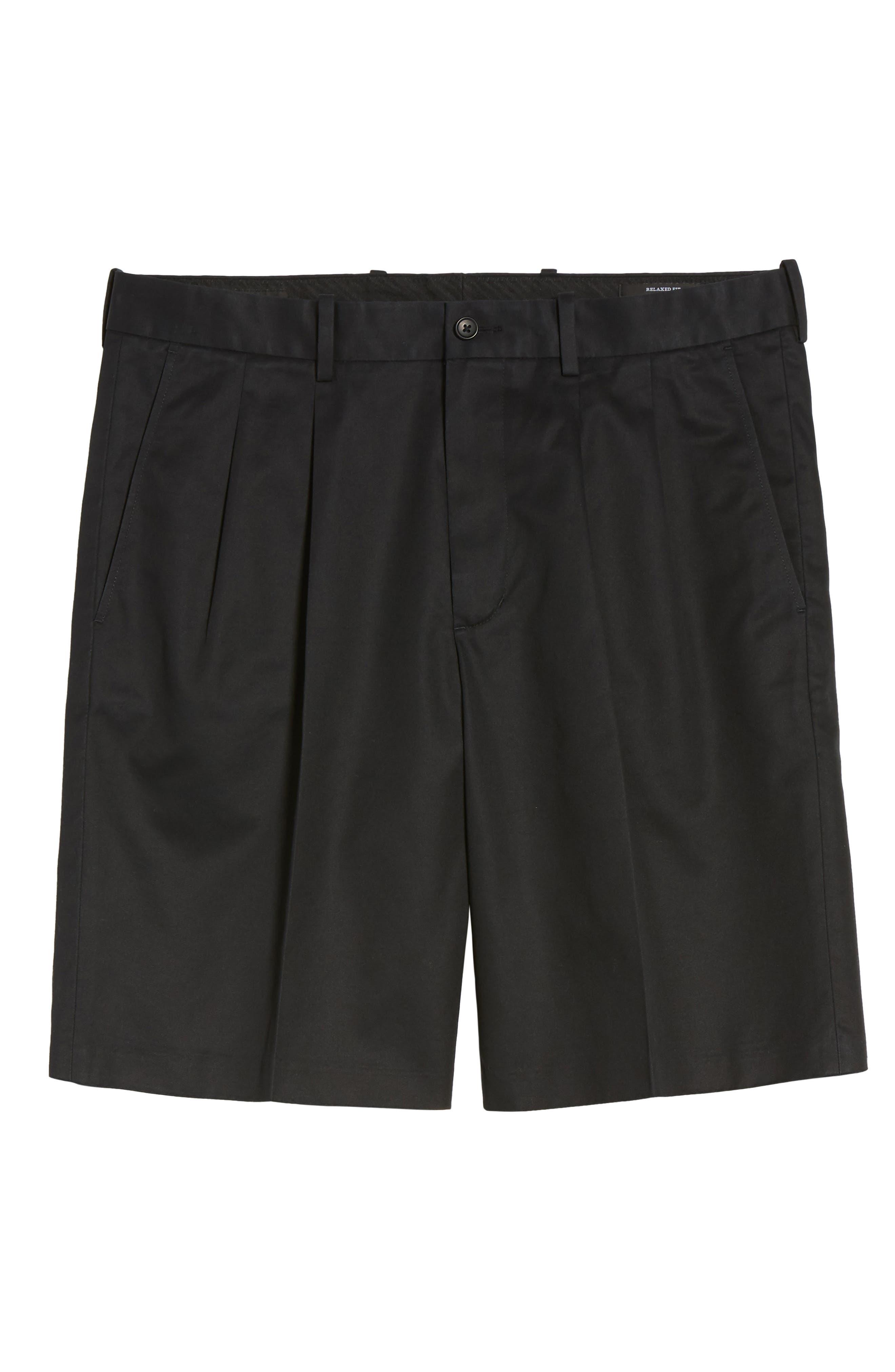 Pleated Supima<sup>®</sup> Cotton Shorts,                             Alternate thumbnail 26, color,