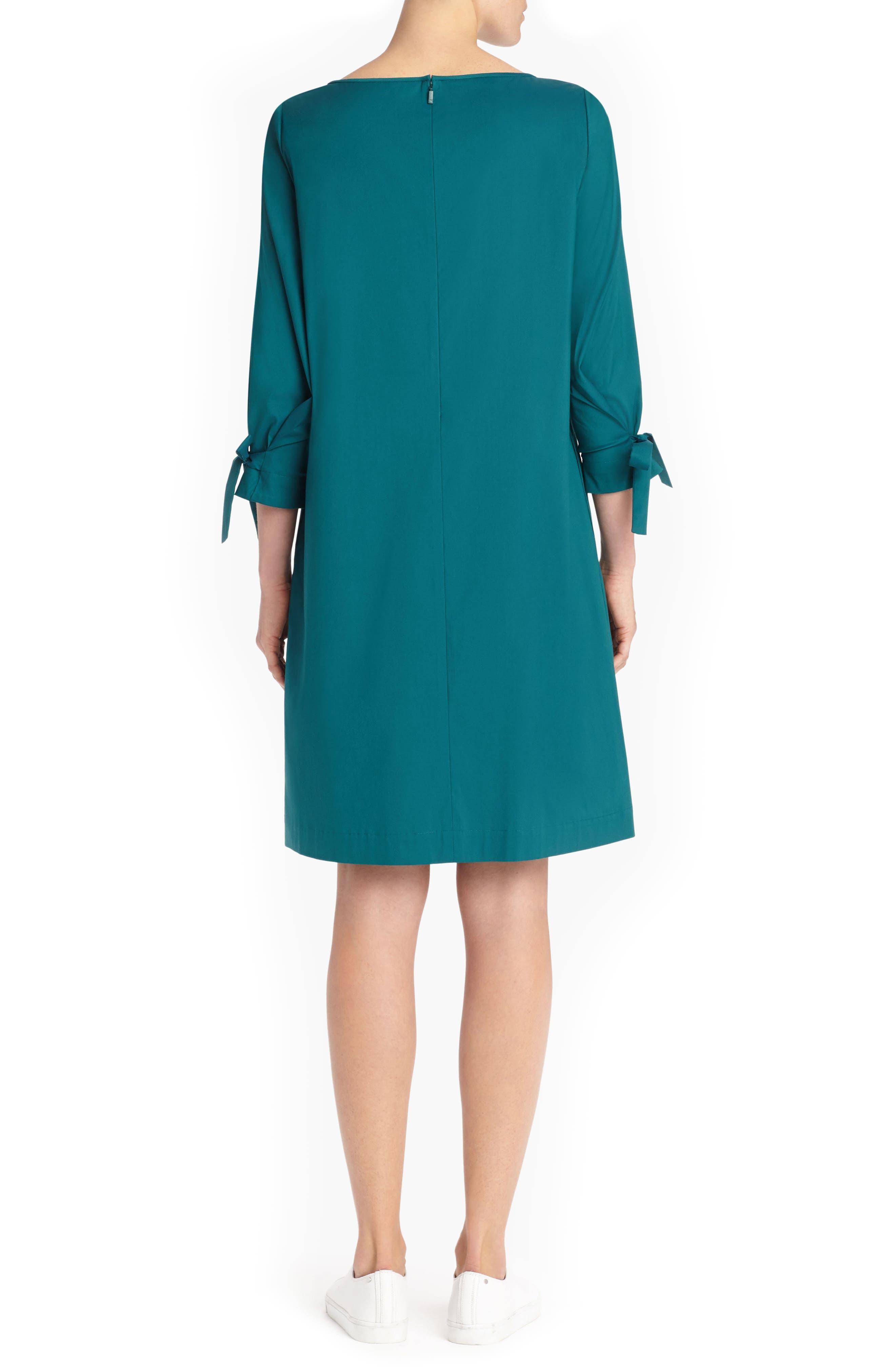 Paige Cotton Blend Dress,                             Alternate thumbnail 2, color,                             ATLANTIC TEAL