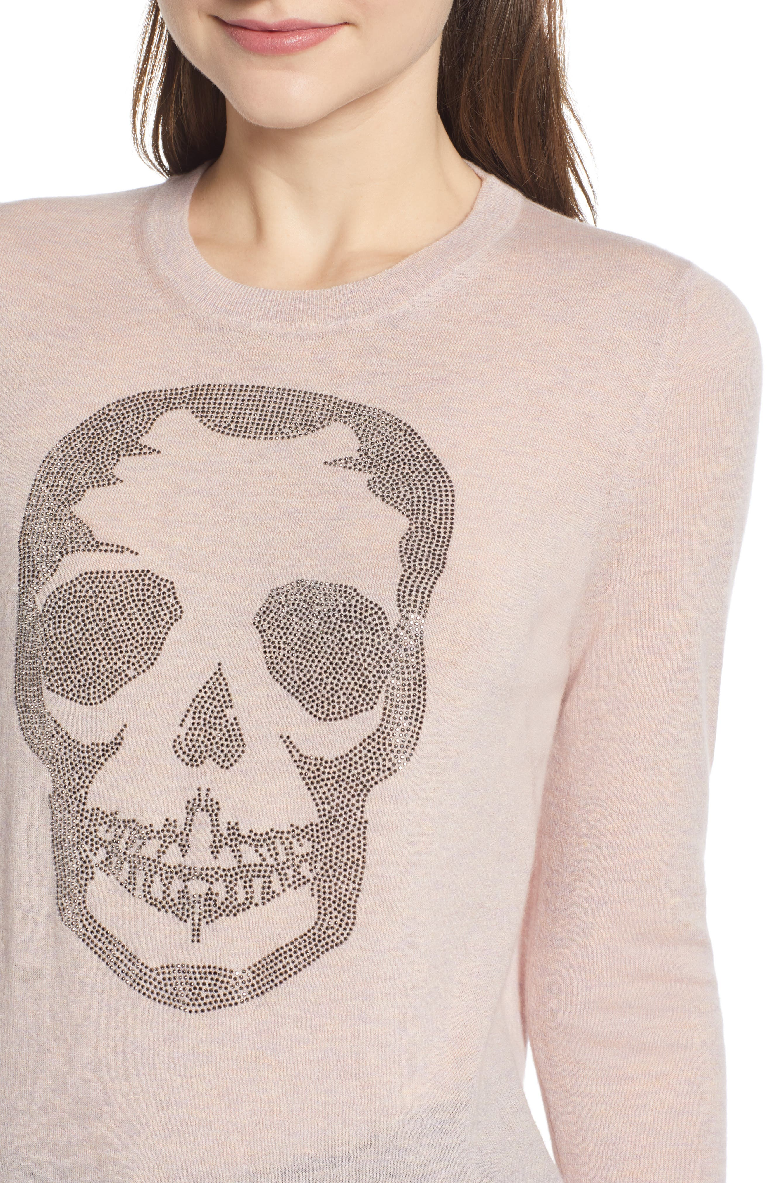 Miss CP Skull Cashmere Sweater,                             Alternate thumbnail 4, color,                             TUTU