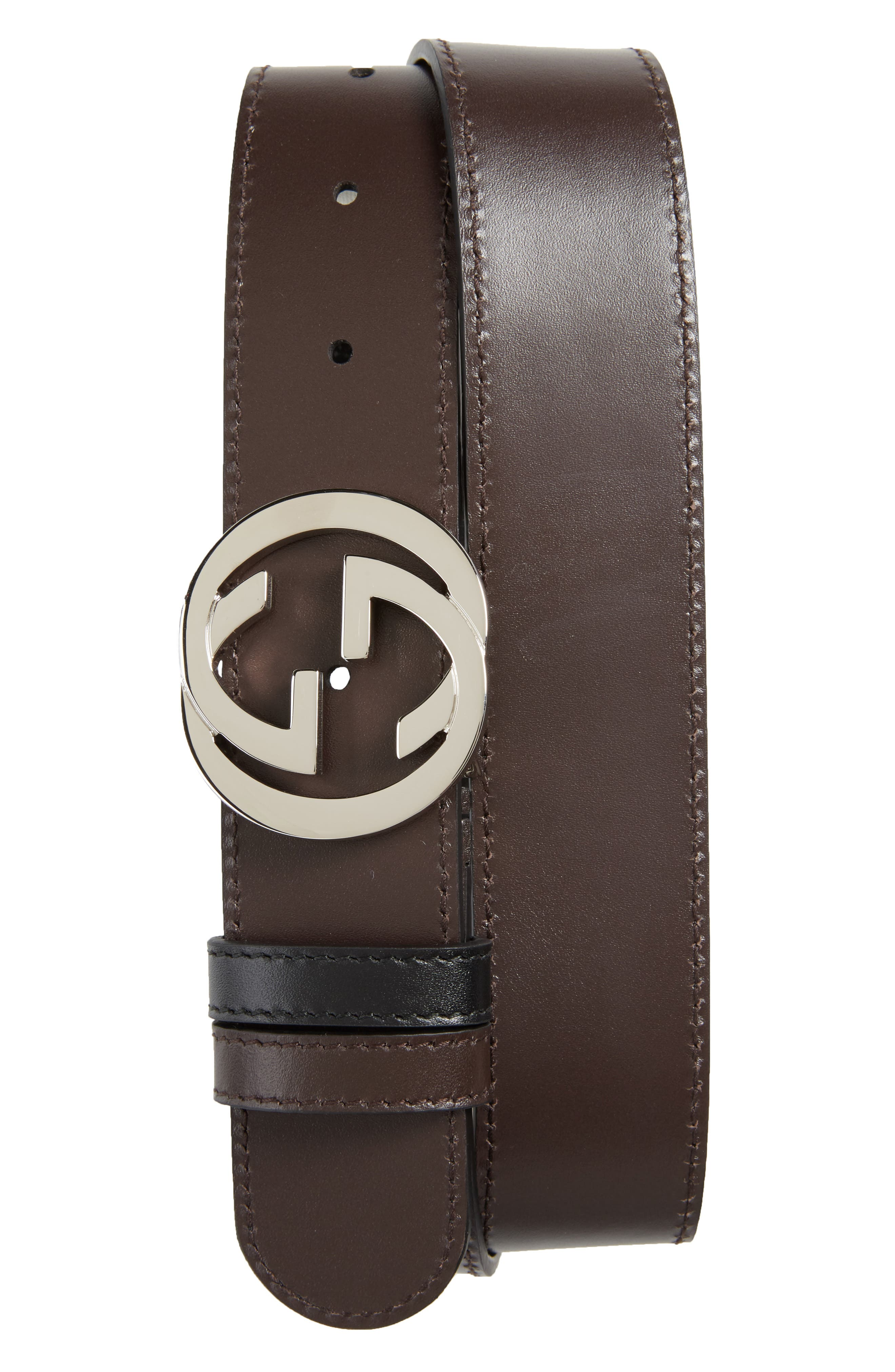 Logo Buckle Interlocking Leather Belt,                             Alternate thumbnail 2, color,                             241