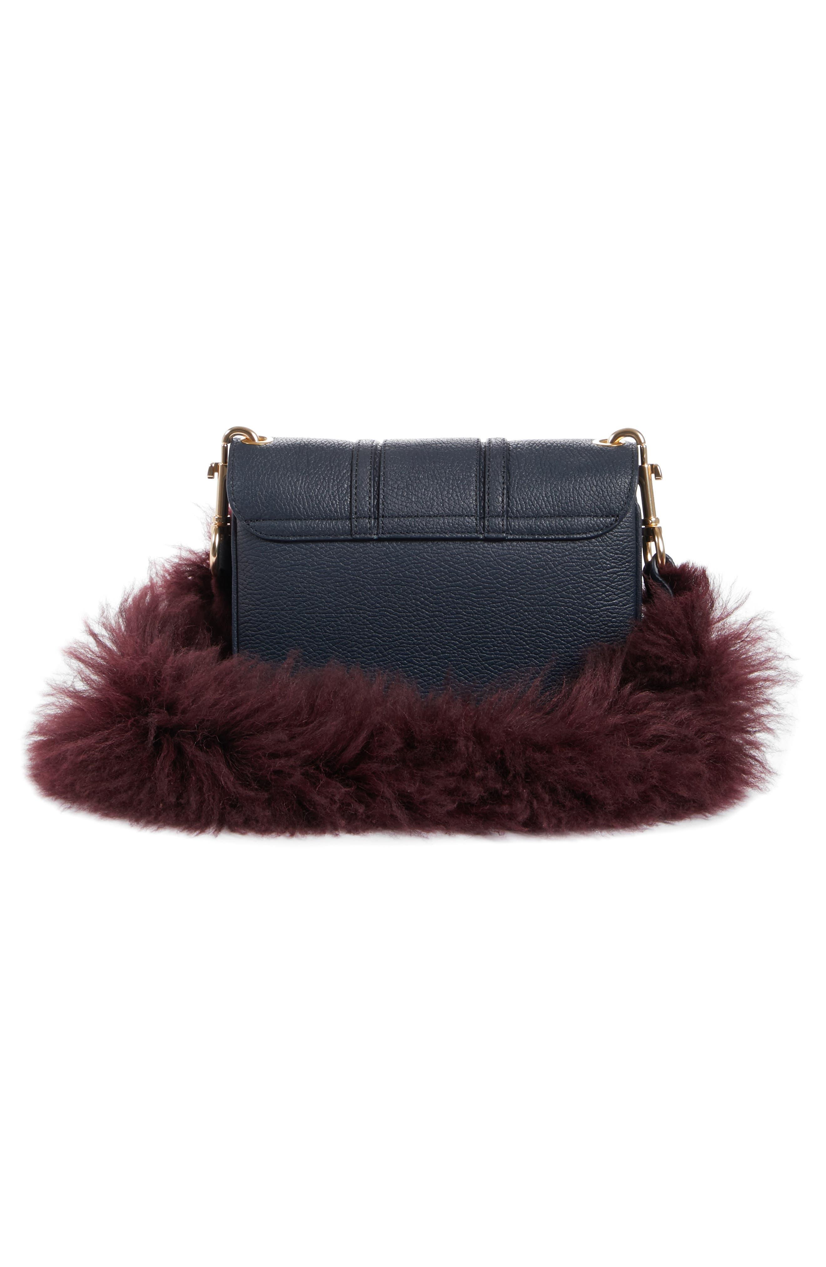 Hana Leather Shoulder Bag,                             Alternate thumbnail 4, color,                             401