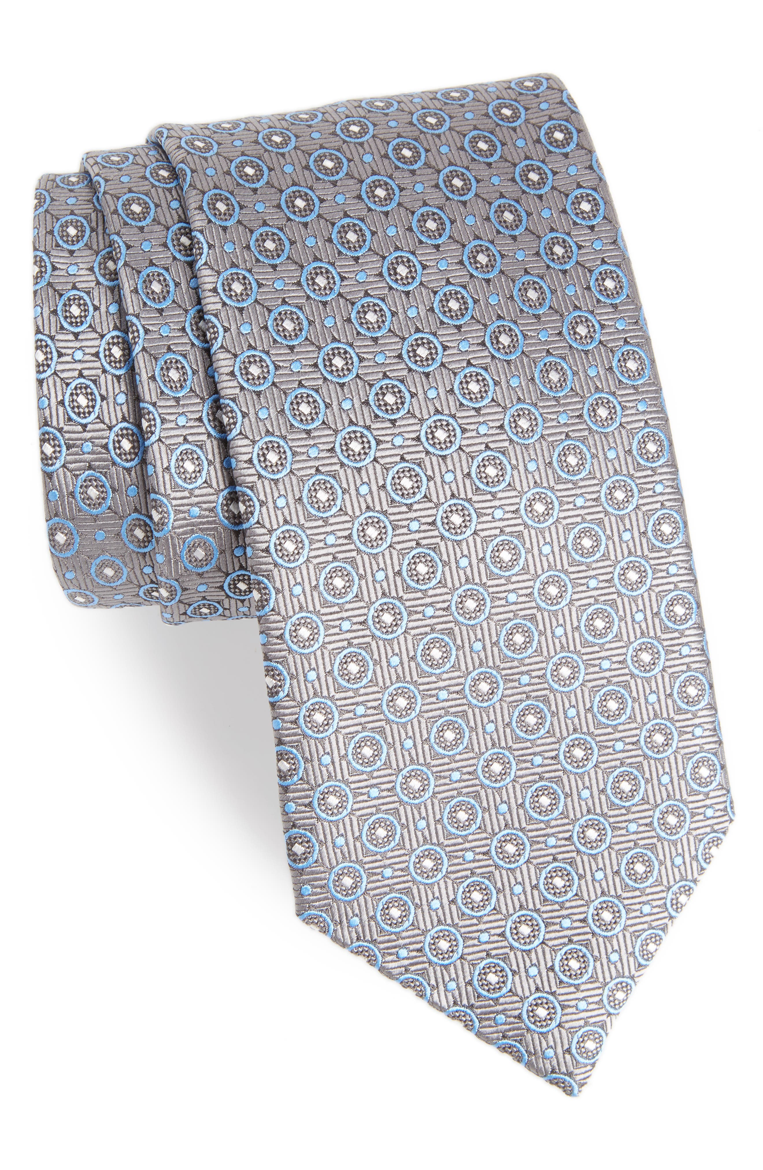 Geometric Silk Tie,                         Main,                         color, 020