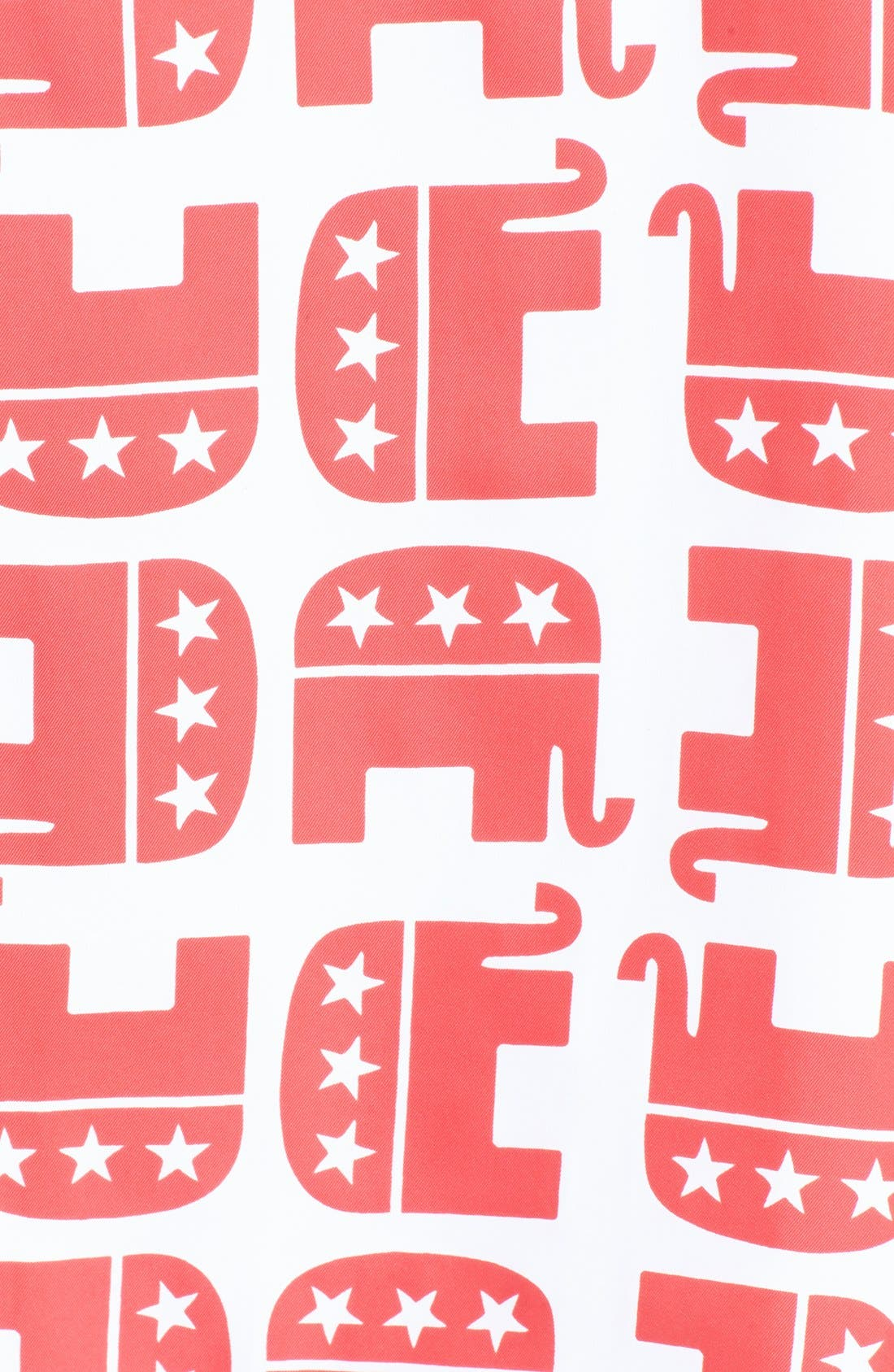 'Electoral Elephant' Square Scarf,                             Alternate thumbnail 3, color,                             629