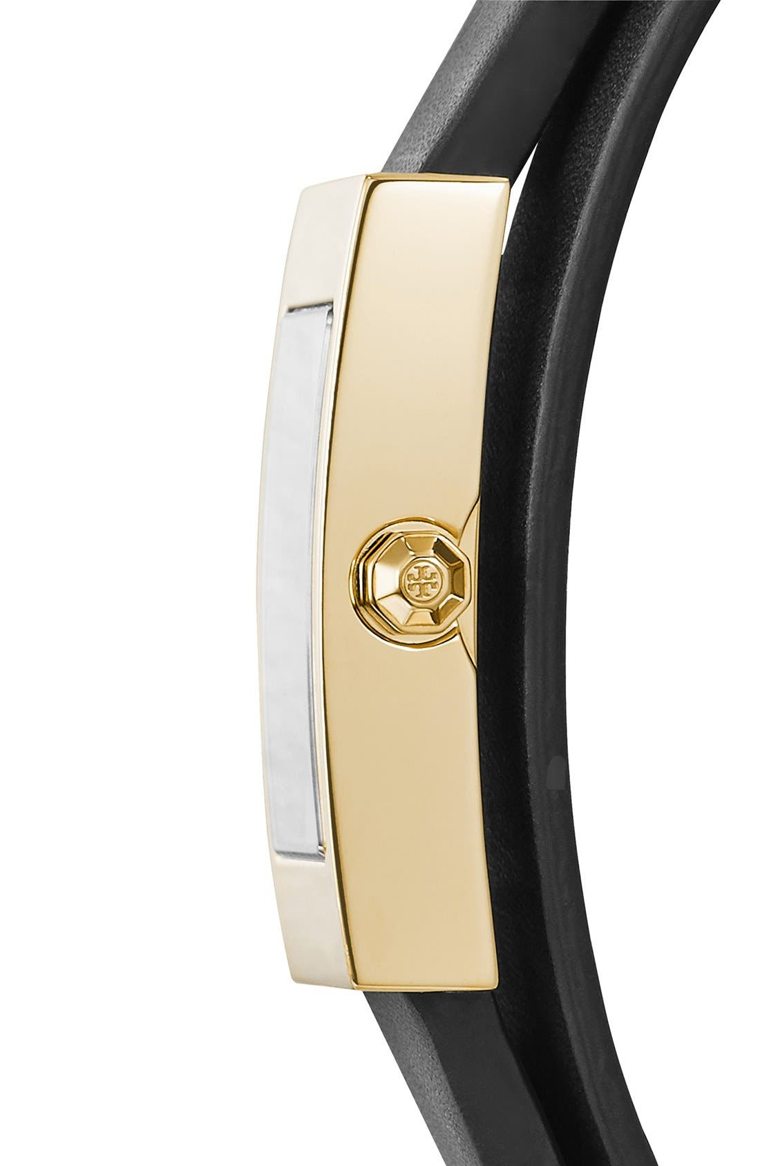 'Buddy Signature' Rectangular Wrap Leather Strap Watch, 17mm x 31mm,                             Alternate thumbnail 3, color,                             001