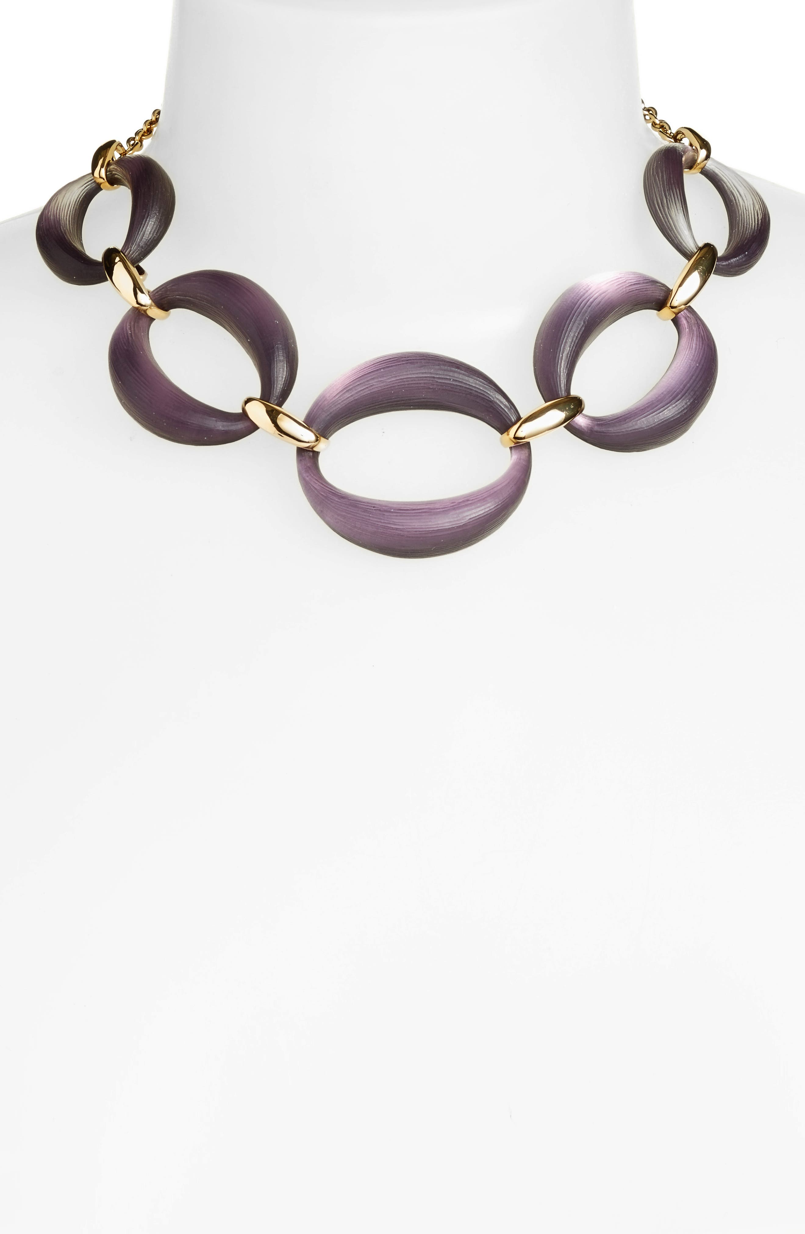 Large Lucite<sup>®</sup> Link Frontal Necklace,                             Alternate thumbnail 2, color,