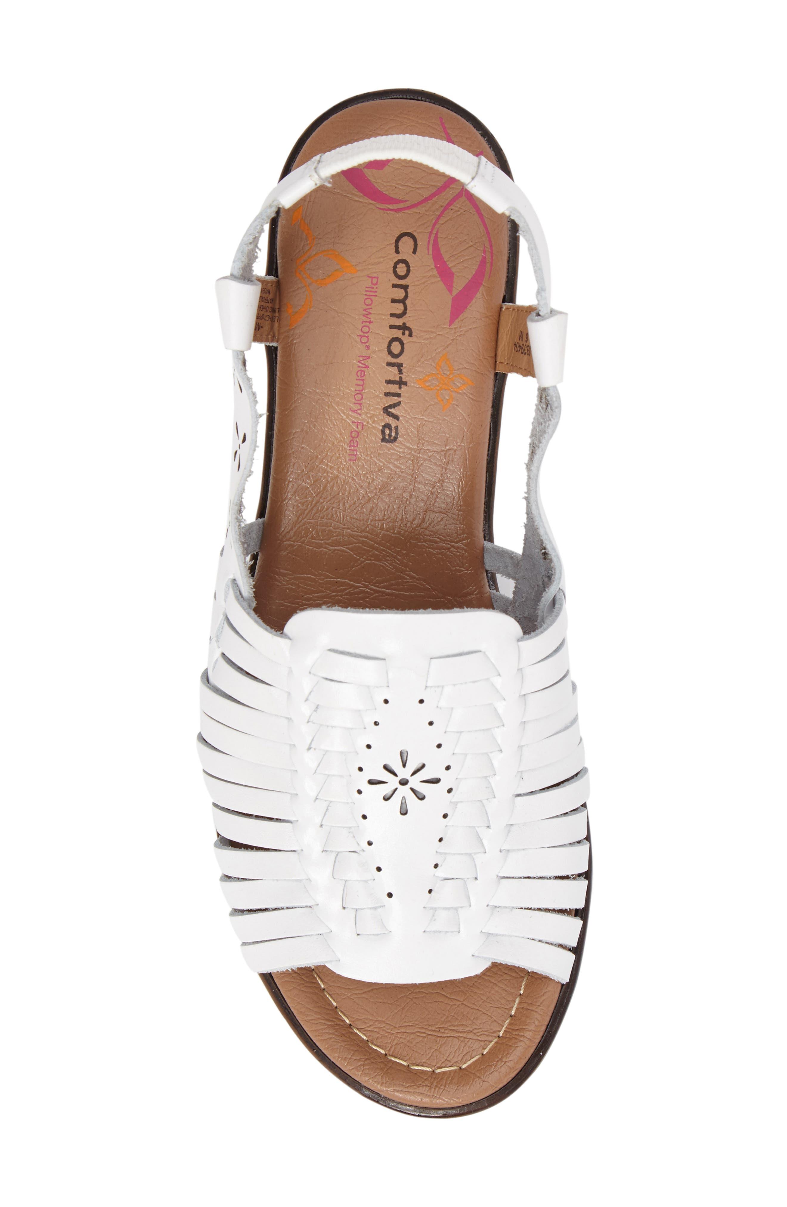 Formasa Huarache Slingback Sandal,                             Alternate thumbnail 5, color,                             100