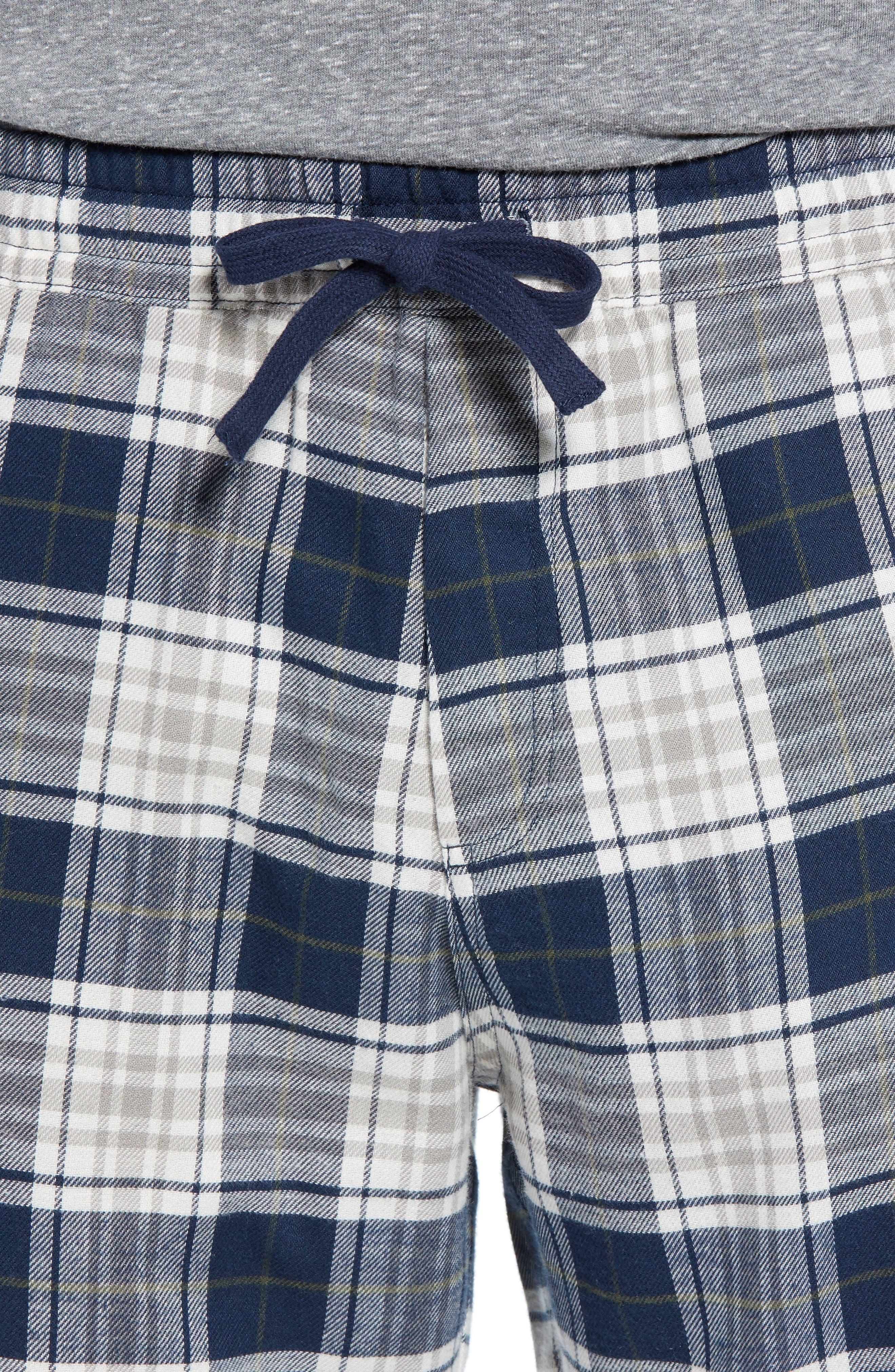 Steiner Pajama Set,                             Alternate thumbnail 4, color,                             NAVY/ GREY HEATHER