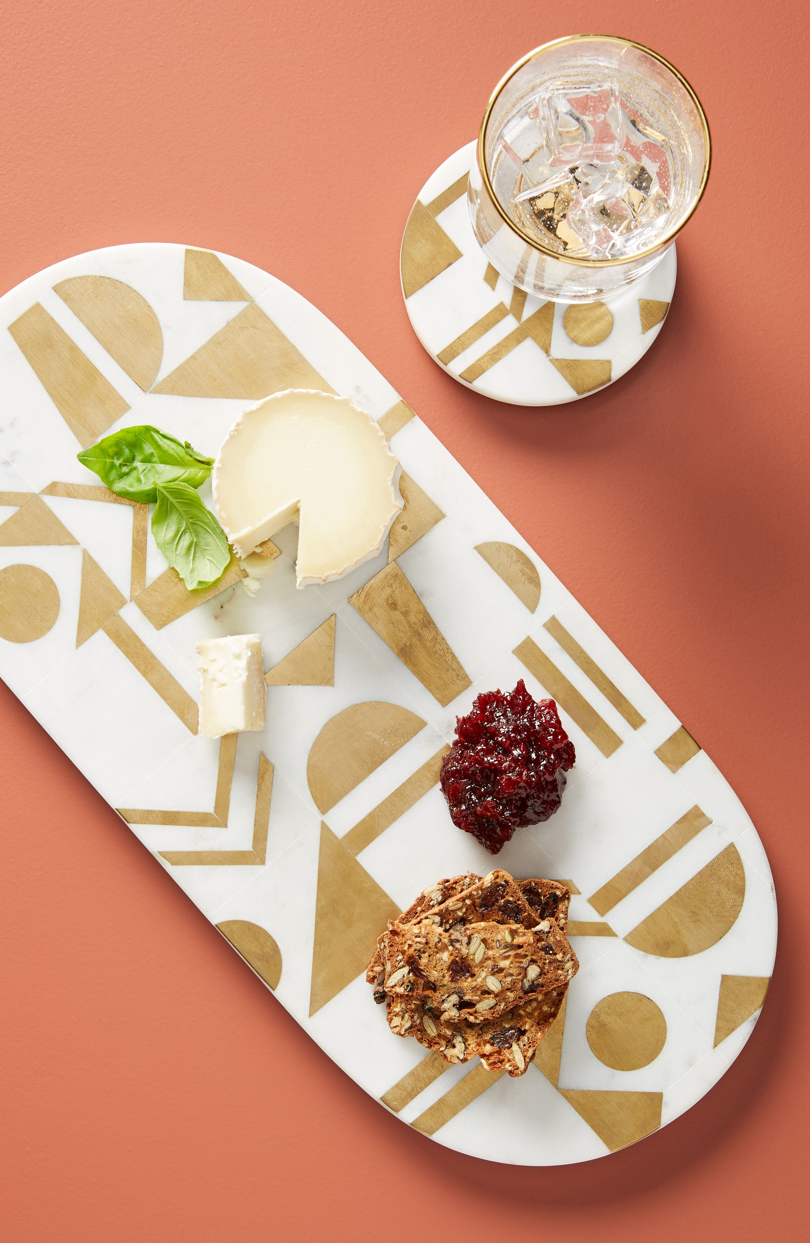 Zora Cheese Board,                             Alternate thumbnail 4, color,                             WHITE MARBLE